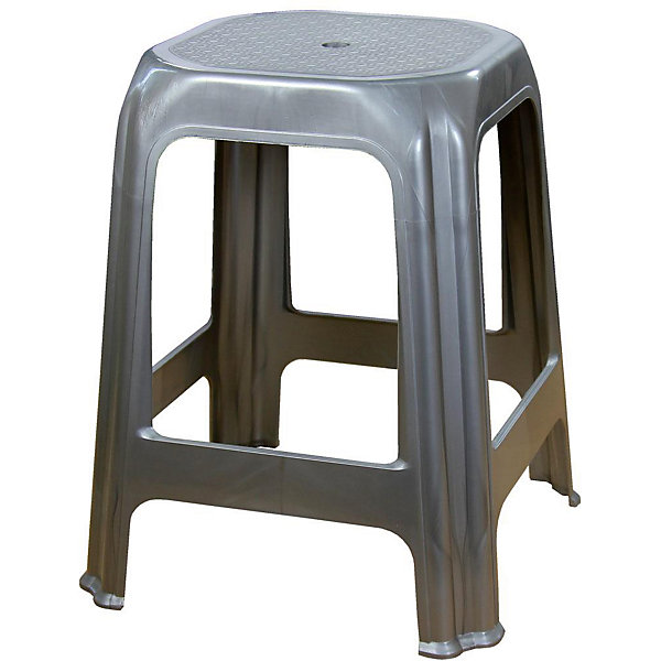 Стул (табурет), Alternativa, серебр.металликДетские столы и стулья<br>Характеристики:<br><br>• Предназначение: для хозяйственных нужд<br>• Материал: пластик<br>• Цвет: серебристый металлик<br>• Размер (Д*Ш*В):  28*28*48 см<br>• Особенности ухода: разрешается мыть <br><br>Стул (табурет), Alternativa, серебристый металлик изготовлен отечественным производителем ООО ЗПИ Альтернатива, который специализируется на выпуске широкого спектра изделий и предметов мебели из пластика. Стул выполнен из экологически безопасного и прочного пластика, устойчивого к механическим повреждениям и изменению цвета. Табурет является неотъемлемым предметом кухонной мебели. Стул от Alternativa имеет устойчивую конструкцию и легкий вес. Его можно использовать как мебель для дачи. Табурет выполнен в темно-серебристом цвете без рисунка.<br><br>Стул (табурет), Alternativa, серебристый металлик можно купить в нашем интернет-магазине.<br><br>Ширина мм: 280<br>Глубина мм: 280<br>Высота мм: 480<br>Вес г: 742<br>Возраст от месяцев: 36<br>Возраст до месяцев: 84<br>Пол: Унисекс<br>Возраст: Детский<br>SKU: 5096695