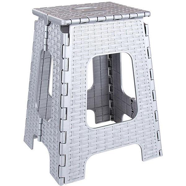 Табурет складной Плетенка, AlternativaДетские столы и стулья<br>Характеристики:<br><br>• Предназначение: для хозяйственных нужд<br>• Материал: пластик<br>• Цвет: в ассортименте<br>• Размер (Д*Ш*В):  27*31*44,5 см<br>• Складная конструкция<br>• Особенности ухода: разрешается мыть <br><br>Табурет складной Плетенка, Alternativa изготовлен отечественным производителем ООО ЗПИ Альтернатива, который специализируется на выпуске широкого спектра изделий и предметов мебели из пластика. Табурет выполнен из экологически безопасного и прочного пластика, устойчивого к механическим повреждениям и изменению цвета. Табурет является неотъемлемым предметом кухонной мебели. Он имеет увеличенные размеры, при этом легкий вес и устойчивую конструкцию. Складной табурет можно использовать как мебель для дачи, его удобно транспортировать. Табурет оформлен декором в виде плетения из лозы в монохромном цвете.<br><br>Табурет складной Плетенка, Alternativa можно купить в нашем интернет-магазине.<br><br>Ширина мм: 350<br>Глубина мм: 310<br>Высота мм: 450<br>Вес г: 1462<br>Возраст от месяцев: 36<br>Возраст до месяцев: 84<br>Пол: Унисекс<br>Возраст: Детский<br>SKU: 5096698
