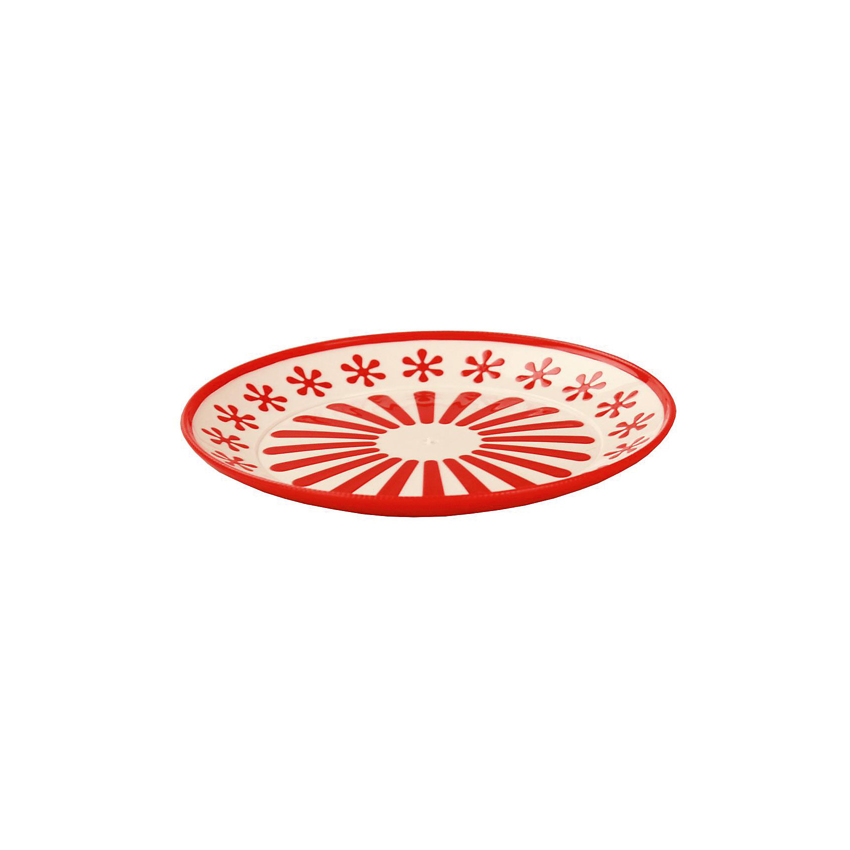 Тарелка Валенсия, Alternativa, красный-белыйПосуда<br>Характеристики:<br><br>• Предназначение: для пищевых продуктов<br>• Материал: пластик<br>• Цвет: красный, белый <br>• Размер (Д*Ш*В):  19*19*20 см<br>• Особенности ухода: разрешается мыть<br><br>Тарелка Валенсия, Alternativa, красный-белый изготовлена отечественным производителем ООО ЗПИ Альтернатива, который специализируется на выпуске широкого спектра изделий и предметов мебели из пластика. Тарелка выполнена из экологически безопасного пищевого пластика, устойчивого к механическим повреждениям и изменению цвета. Ее можно использовать для холодных пищевых продуктов, в качестве вазы для фруктов или кондитерских изделий.Тарелка выполнена в ярком дизайне. Изделие имеет компактный размер и легкий вес, поэтому его удобно брать с собой на природу и дачу. <br><br>Тарелку Валенсия, Alternativa, красно-белую можно купить в нашем интернет-магазине.<br><br>Ширина мм: 190<br>Глубина мм: 190<br>Высота мм: 2<br>Вес г: 74<br>Возраст от месяцев: 36<br>Возраст до месяцев: 84<br>Пол: Унисекс<br>Возраст: Детский<br>SKU: 5096700