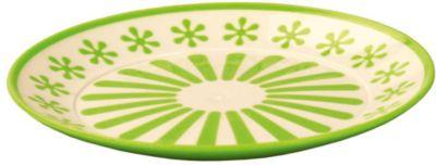 Тарелка Валенсия , Alternativa, салатовый-белый