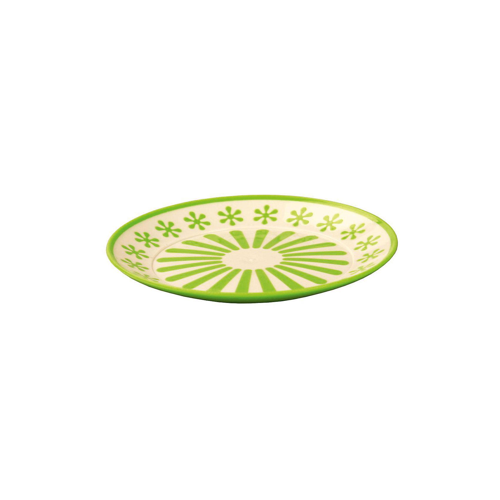 Тарелка Валенсия, Alternativa, салатовый-белыйХарактеристики:<br><br>• Предназначение: для пищевых продуктов<br>• Материал: пластик<br>• Цвет: салатовый, белый<br>• Размер (Д*Ш*В):  19*19*20 см<br>• Особенности ухода: разрешается мыть<br><br>Тарелка Валенсия, Alternativa, салатовый-белый изготовлена отечественным производителем ООО ЗПИ Альтернатива, который специализируется на выпуске широкого спектра изделий и предметов мебели из пластика. Тарелка выполнена из экологически безопасного пищевого пластика, устойчивого к механическим повреждениям и изменению цвета. Ее можно использовать для холодных пищевых продуктов, в качестве вазы для фруктов или кондитерских изделий.Тарелка выполнена в ярком дизайне. Изделие имеет компактный размер и легкий вес, поэтому его удобно брать с собой на природу и дачу. <br><br>Тарелку Валенсия, Alternativa, салатовый-белый можно купить в нашем интернет-магазине.<br><br>Ширина мм: 190<br>Глубина мм: 190<br>Высота мм: 2<br>Вес г: 74<br>Возраст от месяцев: 36<br>Возраст до месяцев: 84<br>Пол: Унисекс<br>Возраст: Детский<br>SKU: 5096703