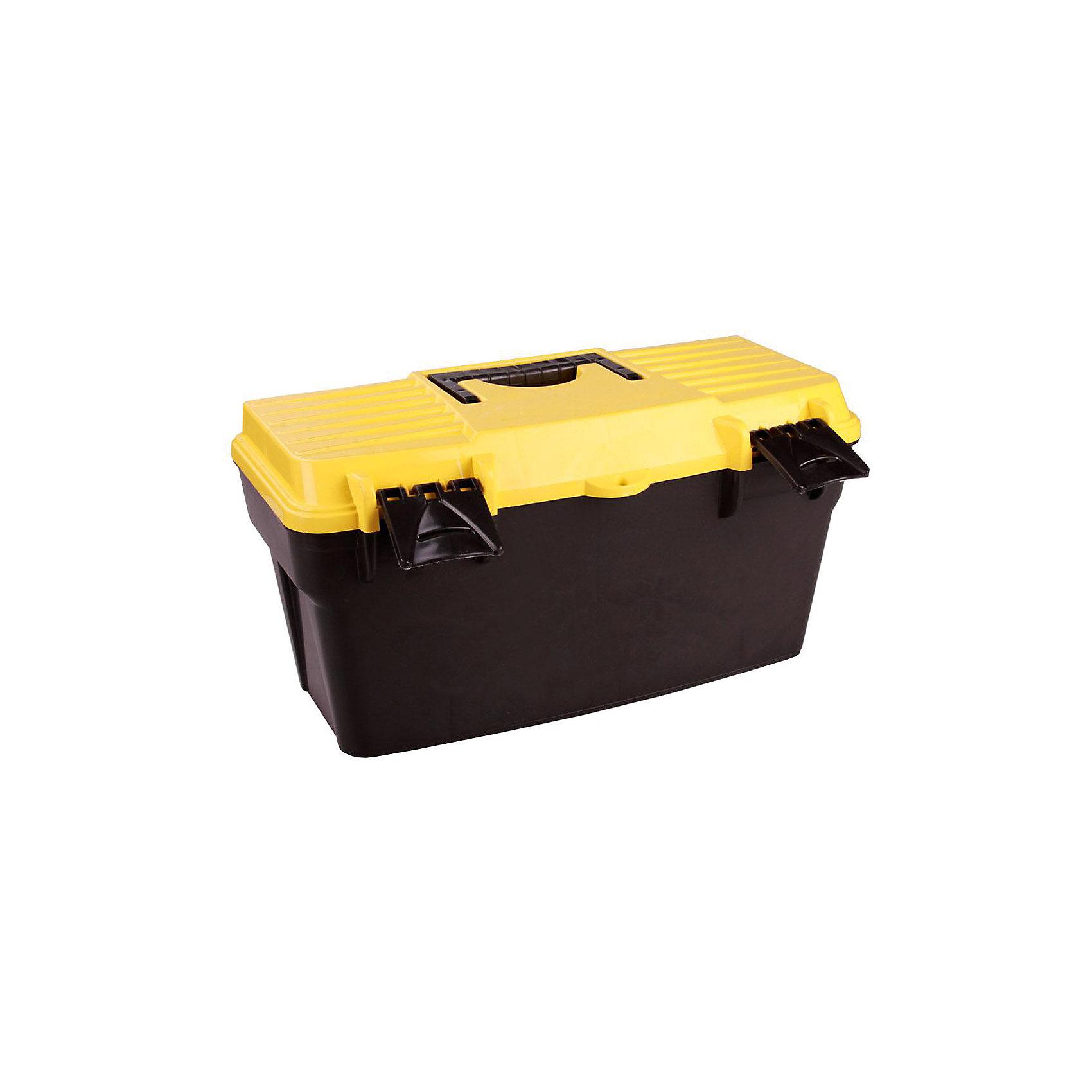 Ящик для инструментов с крышкой (415х210х210), AlternativaПорядок в детской<br>Ящик для инструментов с крышкой (415х210х210), Alternativa (Альтернатива).   <br><br>Характеристика:<br><br>• Материал: пластик. <br>• Размер: 41,5х21х21 см. <br>• Ручка для переноски. <br>• Закрывается на два клапана.<br>• Удобная внутренняя крышка с отверстиями для мелочей. <br>• Легко моется.<br><br>Практичный и вместительный ящик для инструментов - незаменимая вещь в любом доме, а так же на даче или в гараже! Ящик для инструментов Alternativa изготовлен из экологичного прочного пластика, закрывается на два клапана, оформлен ярким рисунком, имеет удобную ручку для переноски. Внутри модели предусмотрена дополнительная крышка, в которой есть отверстия-выемки для различных мелочей. <br><br>Ящик для инструментов с крышкой (415х210х210), Alternativa (Альтернатива), можно купить в нашем магазине.<br><br>Ширина мм: 415<br>Глубина мм: 210<br>Высота мм: 210<br>Вес г: 928<br>Возраст от месяцев: 6<br>Возраст до месяцев: 84<br>Пол: Унисекс<br>Возраст: Детский<br>SKU: 5096727