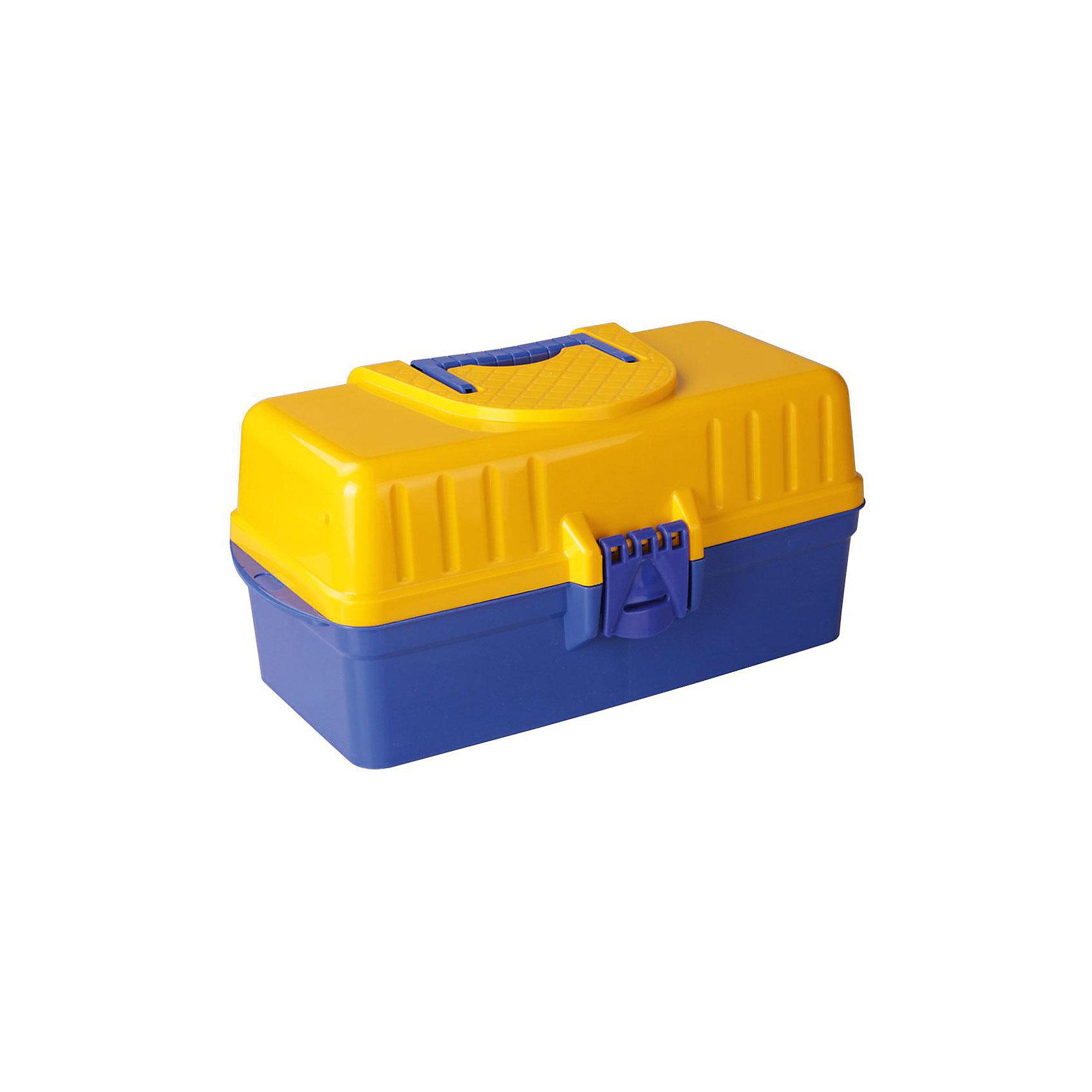 Ящик для инструментов (425х224х200), Alternativa, синий-желтый