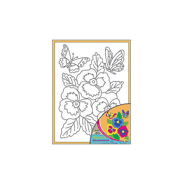 Холст с красками Цветы и бабочки 18х24 смРаскраски по номерам<br>замечательные наборы для создания уникального шедевра изобразительного искусства. Создание картин на специально подготовленной рабочей поверхности – это уникальная техника, позволяющая делать Ваши шедевры более яркими и реалистичными. Просто нанесите мазки на уже готовый эскиз и оживите картину! Готовые изделия могут стать украшением интерьера или прекрасным подарком близким и друзьям.<br>Ширина мм: 180; Глубина мм: 240; Высота мм: 15; Вес г: 1075; Возраст от месяцев: 36; Возраст до месяцев: 108; Пол: Унисекс; Возраст: Детский; SKU: 5096737;