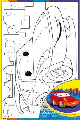 Рыжий кот Холст с красками по номерам Моя машина 20х30 см