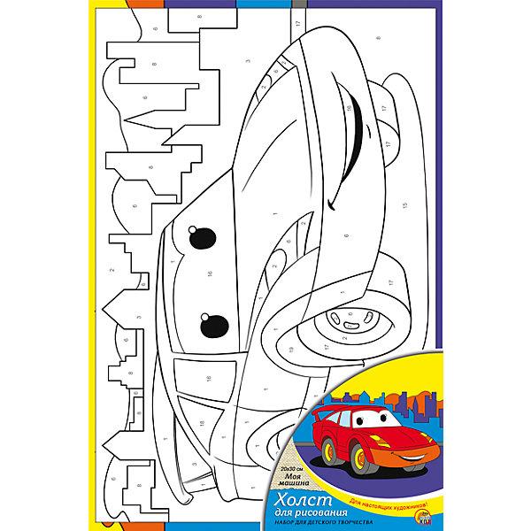 Холст с красками по номерам Моя машина 20х30 смРаскраски по номерам<br>замечательные наборы для создания уникального шедевра изобразительного искусства. Создание картин на специально подготовленной рабочей поверхности – это уникальная техника, позволяющая делать Ваши шедевры более яркими и реалистичными. Просто нанесите мазки на уже готовый эскиз и оживите картину! Готовые изделия могут стать украшением интерьера или прекрасным подарком близким и друзьям.<br>Ширина мм: 200; Глубина мм: 300; Высота мм: 15; Вес г: 933; Возраст от месяцев: 36; Возраст до месяцев: 108; Пол: Унисекс; Возраст: Детский; SKU: 5096743;