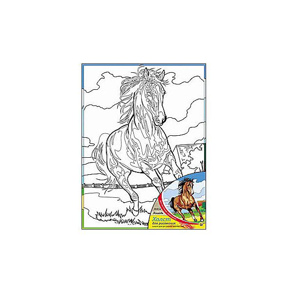Холст с красками Лошадь 30х40 смРаскраски по номерам<br>замечательные наборы для создания уникального шедевра изобразительного искусства. Создание картин на специально подготовленной рабочей поверхности – это уникальная техника, позволяющая делать Ваши шедевры более яркими и реалистичными. Просто нанесите мазки на уже готовый эскиз и оживите картину! Готовые изделия могут стать украшением интерьера или прекрасным подарком близким и друзьям.<br><br>Ширина мм: 300<br>Глубина мм: 400<br>Высота мм: 15<br>Вес г: 733<br>Возраст от месяцев: 36<br>Возраст до месяцев: 108<br>Пол: Унисекс<br>Возраст: Детский<br>SKU: 5096748