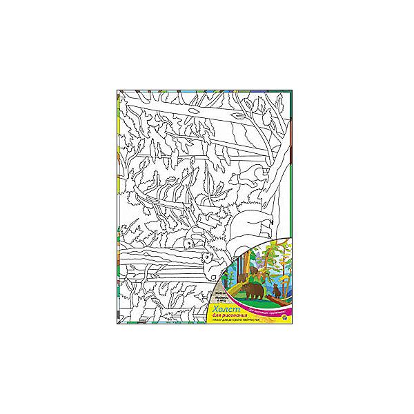 Холст с красками Медведи в лесу 30х40 смРаскраски по номерам<br>замечательные наборы для создания уникального шедевра изобразительного искусства. Создание картин на специально подготовленной рабочей поверхности – это уникальная техника, позволяющая делать Ваши шедевры более яркими и реалистичными. Просто нанесите мазки на уже готовый эскиз и оживите картину! Готовые изделия могут стать украшением интерьера или прекрасным подарком близким и друзьям.<br><br>Ширина мм: 300<br>Глубина мм: 400<br>Высота мм: 15<br>Вес г: 733<br>Возраст от месяцев: 36<br>Возраст до месяцев: 108<br>Пол: Унисекс<br>Возраст: Детский<br>SKU: 5096750