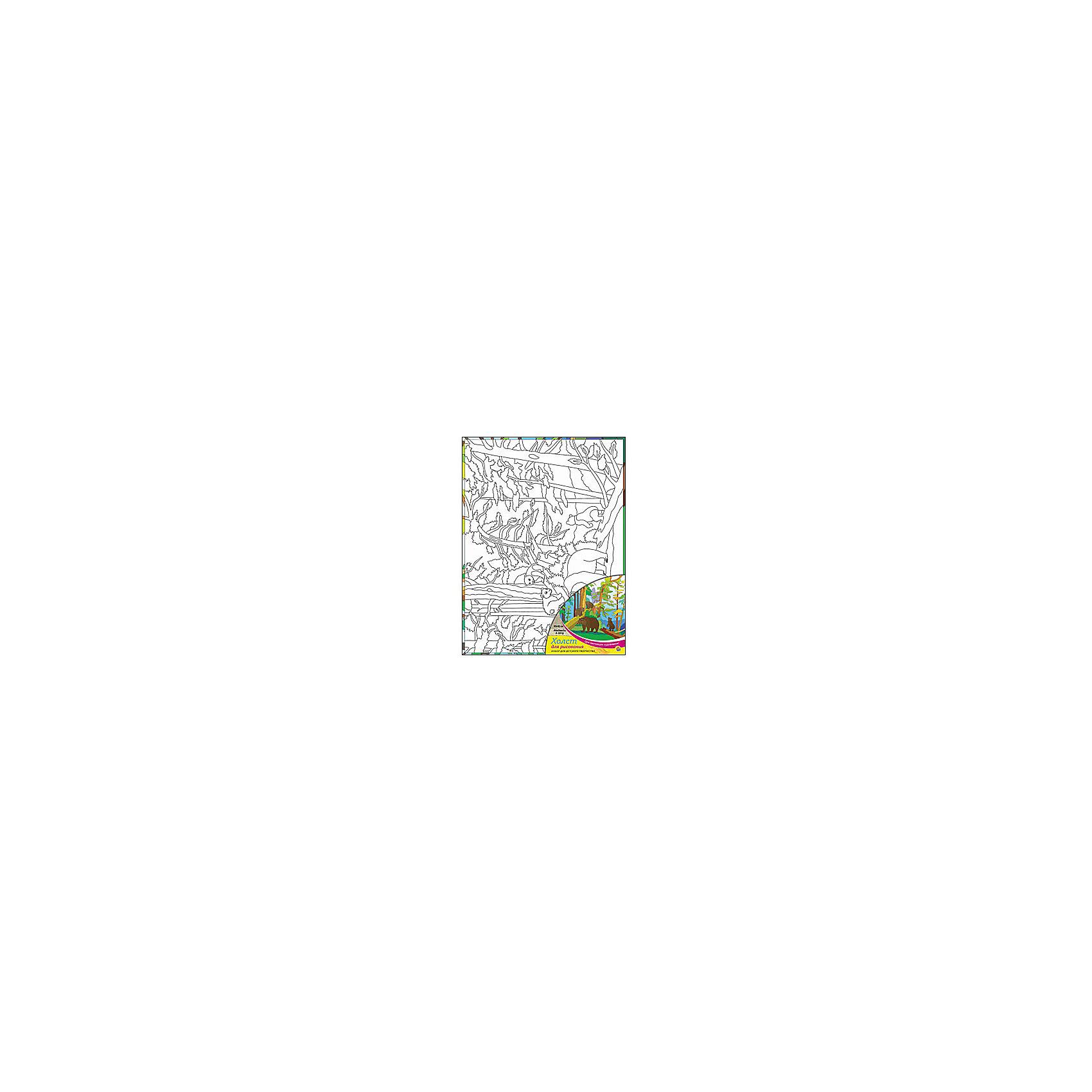 Холст с красками Медведи в лесу 30х40 смРисование<br>замечательные наборы для создания уникального шедевра изобразительного искусства. Создание картин на специально подготовленной рабочей поверхности – это уникальная техника, позволяющая делать Ваши шедевры более яркими и реалистичными. Просто нанесите мазки на уже готовый эскиз и оживите картину! Готовые изделия могут стать украшением интерьера или прекрасным подарком близким и друзьям.<br><br>Ширина мм: 300<br>Глубина мм: 400<br>Высота мм: 15<br>Вес г: 733<br>Возраст от месяцев: 36<br>Возраст до месяцев: 108<br>Пол: Унисекс<br>Возраст: Детский<br>SKU: 5096750