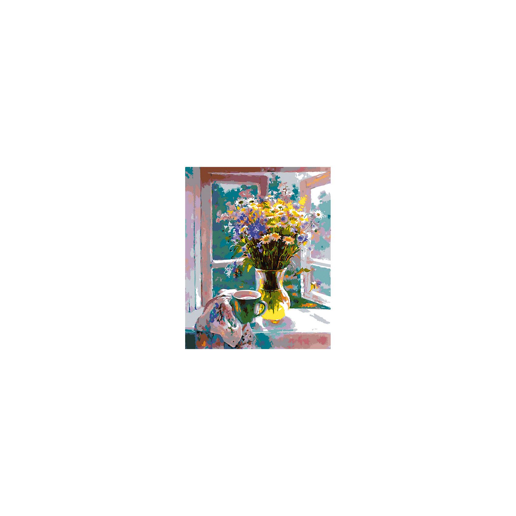 Холст с красками по номерам Букет у окна 40х50 смРаскраски по номерам<br>замечательные наборы для создания уникального шедевра изобразительного искусства. Создание картин на специально подготовленной рабочей поверхности – это уникальная техника, позволяющая делать Ваши шедевры более яркими и реалистичными. Просто нанесите мазки на уже готовый эскиз и оживите картину! Готовые изделия могут стать украшением интерьера или прекрасным подарком близким и друзьям.<br><br>Ширина мм: 510<br>Глубина мм: 410<br>Высота мм: 25<br>Вес г: 900<br>Возраст от месяцев: 36<br>Возраст до месяцев: 108<br>Пол: Унисекс<br>Возраст: Детский<br>SKU: 5096752