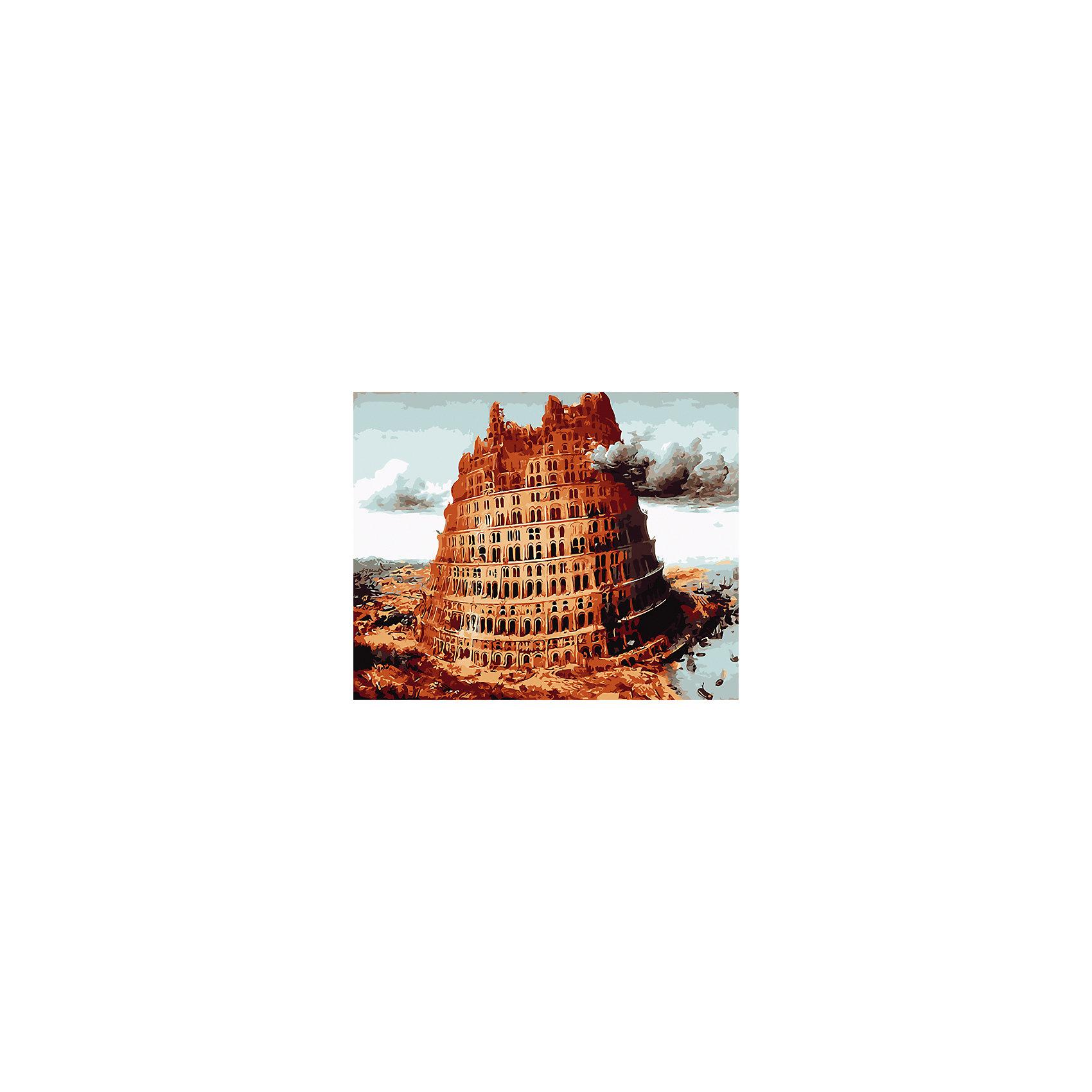 Холст с красками по номерам Вавилонская башня 40х50 смРисование<br>замечательные наборы для создания уникального шедевра изобразительного искусства. Создание картин на специально подготовленной рабочей поверхности – это уникальная техника, позволяющая делать Ваши шедевры более яркими и реалистичными. Просто нанесите мазки на уже готовый эскиз и оживите картину! Готовые изделия могут стать украшением интерьера или прекрасным подарком близким и друзьям.<br><br>Ширина мм: 510<br>Глубина мм: 410<br>Высота мм: 25<br>Вес г: 900<br>Возраст от месяцев: 36<br>Возраст до месяцев: 108<br>Пол: Унисекс<br>Возраст: Детский<br>SKU: 5096753