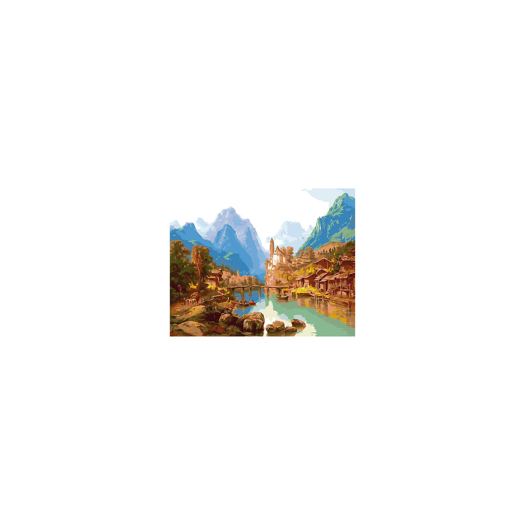 Холст с красками по номерам Горный пейзаж 40х50замечательные наборы для создания уникального шедевра изобразительного искусства. Создание картин на специально подготовленной рабочей поверхности – это уникальная техника, позволяющая делать Ваши шедевры более яркими и реалистичными. Просто нанесите мазки на уже готовый эскиз и оживите картину! Готовые изделия могут стать украшением интерьера или прекрасным подарком близким и друзьям.<br><br>Ширина мм: 510<br>Глубина мм: 410<br>Высота мм: 25<br>Вес г: 900<br>Возраст от месяцев: 36<br>Возраст до месяцев: 108<br>Пол: Унисекс<br>Возраст: Детский<br>SKU: 5096761