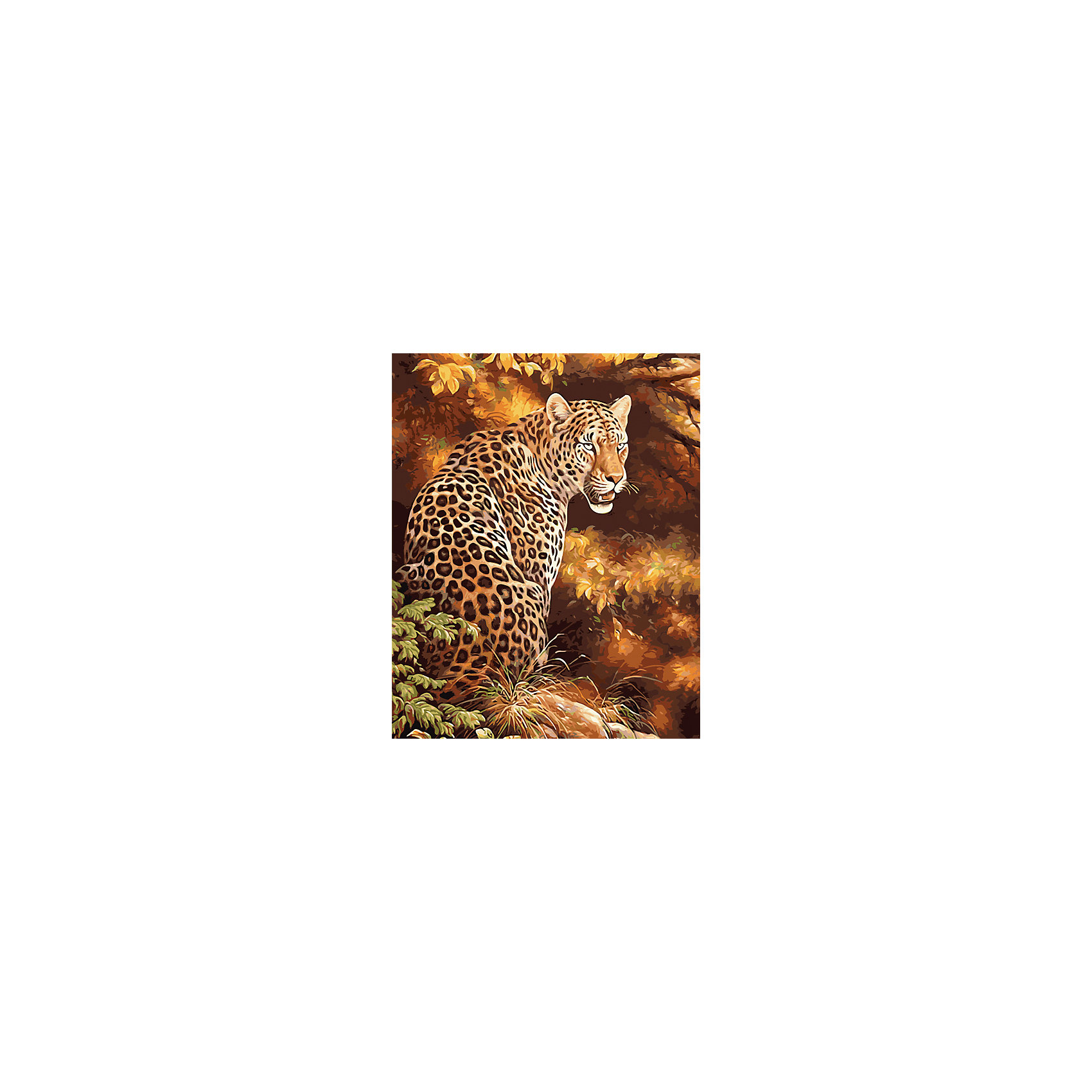 Холст с красками по номерам Грозный леопард 40х50 смРисование<br>замечательные наборы для создания уникального шедевра изобразительного искусства. Создание картин на специально подготовленной рабочей поверхности – это уникальная техника, позволяющая делать Ваши шедевры более яркими и реалистичными. Просто нанесите мазки на уже готовый эскиз и оживите картину! Готовые изделия могут стать украшением интерьера или прекрасным подарком близким и друзьям.<br><br>Ширина мм: 510<br>Глубина мм: 410<br>Высота мм: 25<br>Вес г: 900<br>Возраст от месяцев: 36<br>Возраст до месяцев: 108<br>Пол: Унисекс<br>Возраст: Детский<br>SKU: 5096762