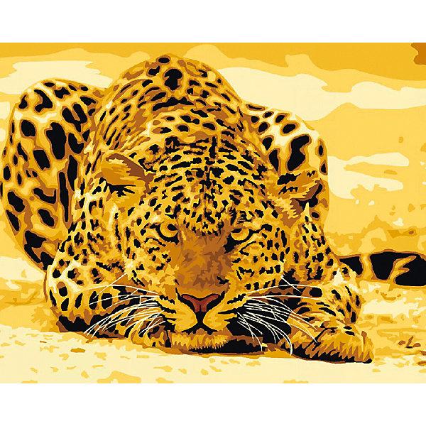 Холст с красками по номерам Леопард на охоте 40х50 смРаскраски по номерам<br>замечательные наборы для создания уникального шедевра изобразительного искусства. Создание картин на специально подготовленной рабочей поверхности – это уникальная техника, позволяющая делать Ваши шедевры более яркими и реалистичными. Просто нанесите мазки на уже готовый эскиз и оживите картину! Готовые изделия могут стать украшением интерьера или прекрасным подарком близким и друзьям.<br>Ширина мм: 510; Глубина мм: 410; Высота мм: 25; Вес г: 900; Возраст от месяцев: 36; Возраст до месяцев: 108; Пол: Унисекс; Возраст: Детский; SKU: 5096773;