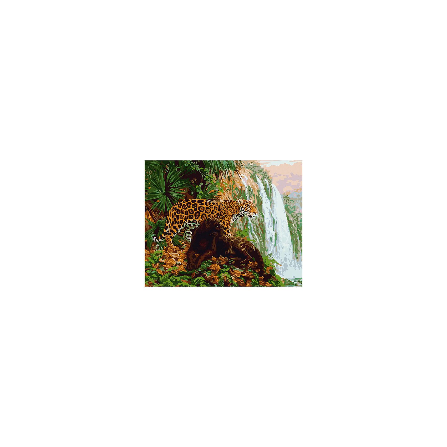 Холст с красками по номерам Леопард у водопада 40х50 смРаскраски по номерам<br>замечательные наборы для создания уникального шедевра изобразительного искусства. Создание картин на специально подготовленной рабочей поверхности – это уникальная техника, позволяющая делать Ваши шедевры более яркими и реалистичными. Просто нанесите мазки на уже готовый эскиз и оживите картину! Готовые изделия могут стать украшением интерьера или прекрасным подарком близким и друзьям.<br><br>Ширина мм: 510<br>Глубина мм: 410<br>Высота мм: 25<br>Вес г: 900<br>Возраст от месяцев: 36<br>Возраст до месяцев: 108<br>Пол: Унисекс<br>Возраст: Детский<br>SKU: 5096774