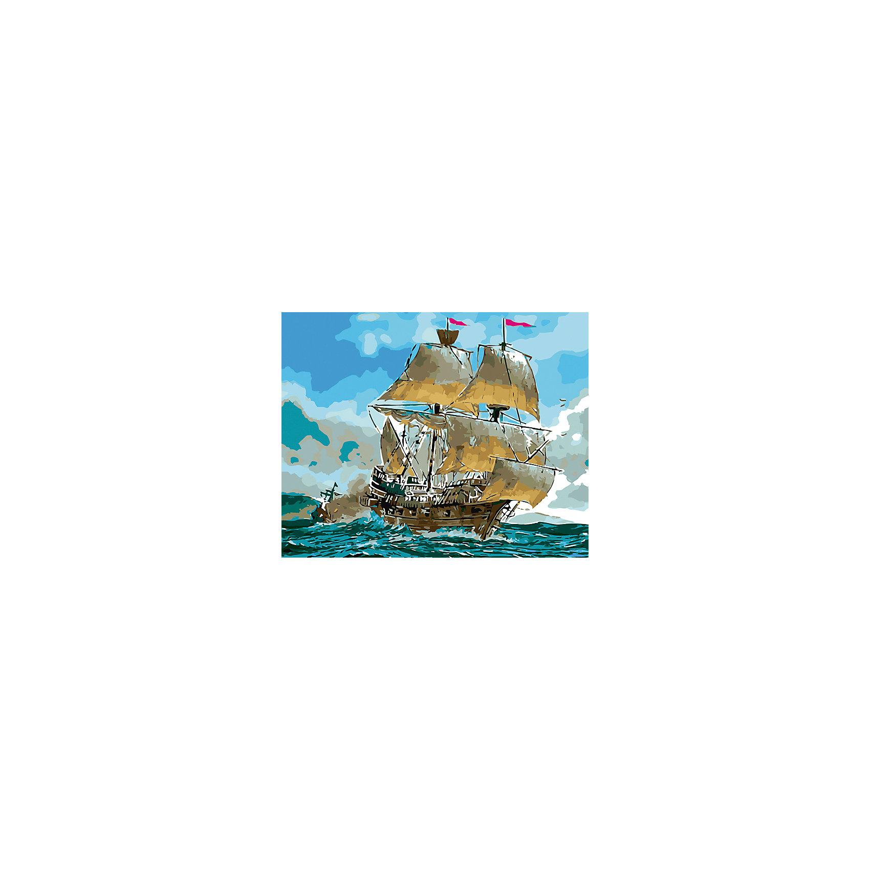 Холст с красками по номерам Парусник в открытом море 40х50 смзамечательные наборы для создания уникального шедевра изобразительного искусства. Создание картин на специально подготовленной рабочей поверхности – это уникальная техника, позволяющая делать Ваши шедевры более яркими и реалистичными. Просто нанесите мазки на уже готовый эскиз и оживите картину! Готовые изделия могут стать украшением интерьера или прекрасным подарком близким и друзьям.<br><br>Ширина мм: 510<br>Глубина мм: 410<br>Высота мм: 25<br>Вес г: 900<br>Возраст от месяцев: 36<br>Возраст до месяцев: 108<br>Пол: Унисекс<br>Возраст: Детский<br>SKU: 5096777