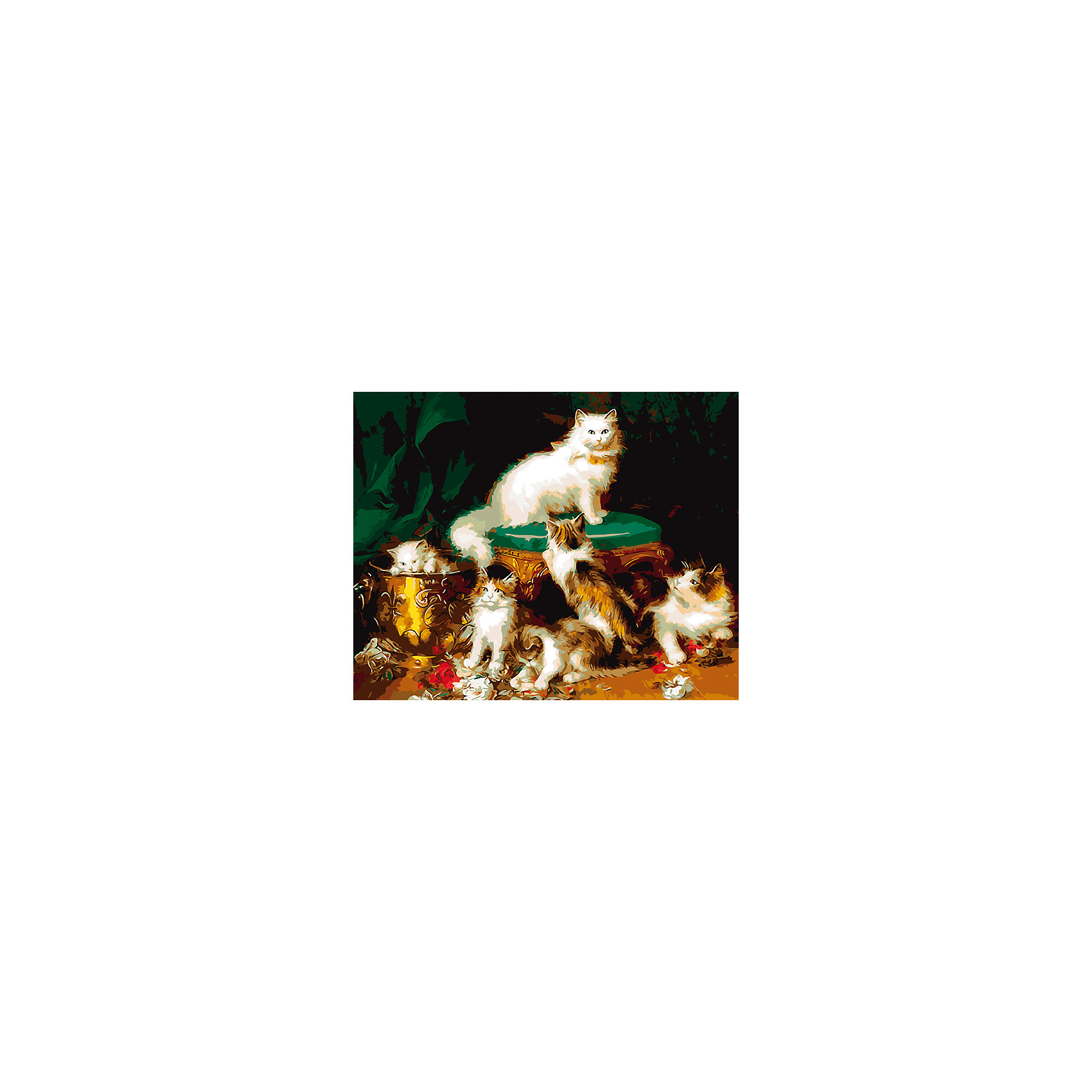 Холст с красками по номерам Пушистые котята 40х50 смзамечательные наборы для создания уникального шедевра изобразительного искусства. Создание картин на специально подготовленной рабочей поверхности – это уникальная техника, позволяющая делать Ваши шедевры более яркими и реалистичными. Просто нанесите мазки на уже готовый эскиз и оживите картину! Готовые изделия могут стать украшением интерьера или прекрасным подарком близким и друзьям.<br><br>Ширина мм: 510<br>Глубина мм: 410<br>Высота мм: 25<br>Вес г: 900<br>Возраст от месяцев: 36<br>Возраст до месяцев: 108<br>Пол: Унисекс<br>Возраст: Детский<br>SKU: 5096781