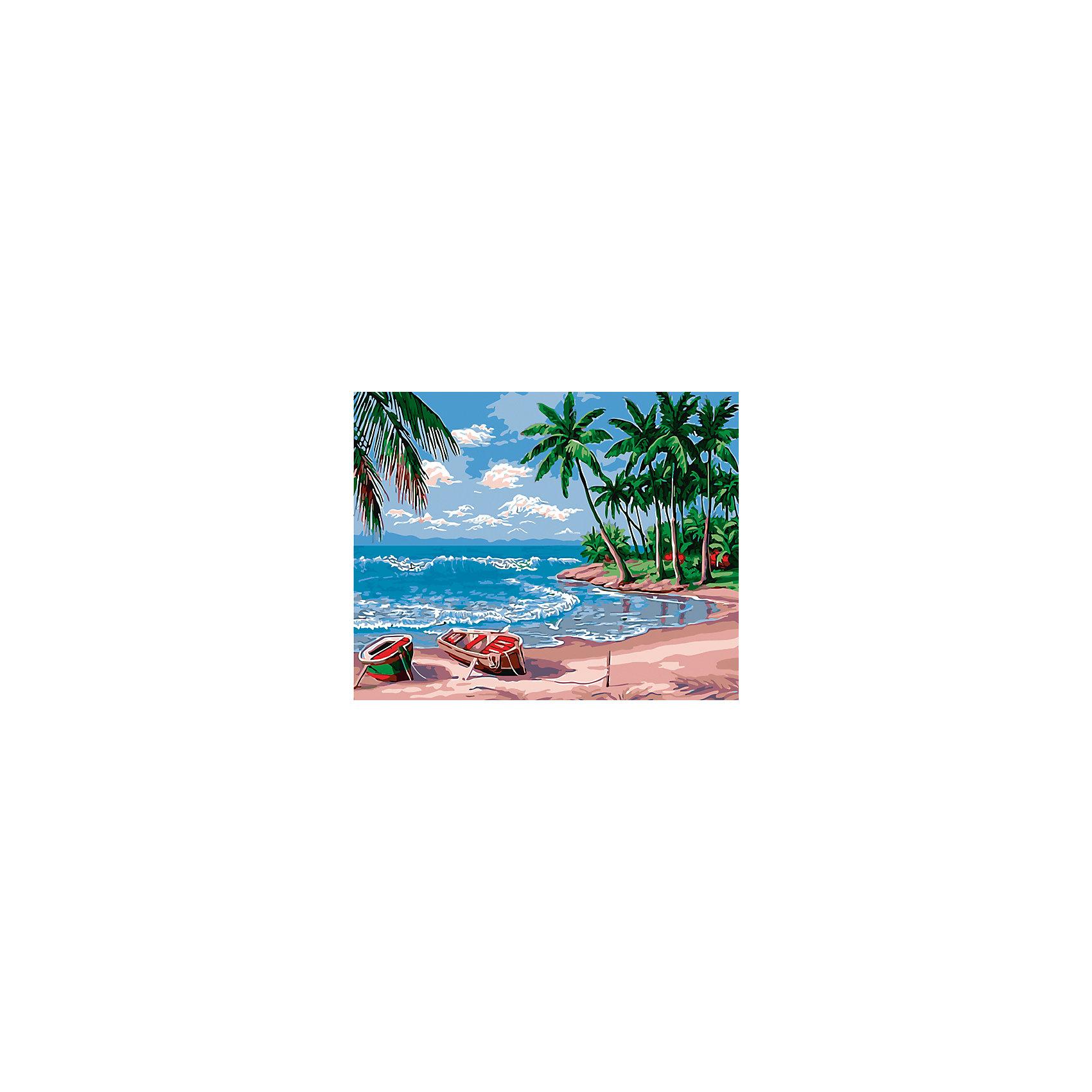 Холст с красками по номерам Райский остров 40х50 смРисование<br>замечательные наборы для создания уникального шедевра изобразительного искусства. Создание картин на специально подготовленной рабочей поверхности – это уникальная техника, позволяющая делать Ваши шедевры более яркими и реалистичными. Просто нанесите мазки на уже готовый эскиз и оживите картину! Готовые изделия могут стать украшением интерьера или прекрасным подарком близким и друзьям.<br><br>Ширина мм: 510<br>Глубина мм: 410<br>Высота мм: 25<br>Вес г: 900<br>Возраст от месяцев: 36<br>Возраст до месяцев: 108<br>Пол: Унисекс<br>Возраст: Детский<br>SKU: 5096782