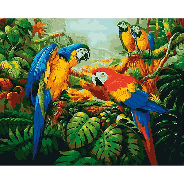 Холст с красками по номерам Яркие попугаи 40х50 смРаскраски по номерам<br>замечательные наборы для создания уникального шедевра изобразительного искусства. Создание картин на специально подготовленной рабочей поверхности – это уникальная техника, позволяющая делать Ваши шедевры более яркими и реалистичными. Просто нанесите мазки на уже готовый эскиз и оживите картину! Готовые изделия могут стать украшением интерьера или прекрасным подарком близким и друзьям.<br><br>Ширина мм: 510<br>Глубина мм: 410<br>Высота мм: 25<br>Вес г: 1800<br>Возраст от месяцев: 36<br>Возраст до месяцев: 108<br>Пол: Унисекс<br>Возраст: Детский<br>SKU: 5096790