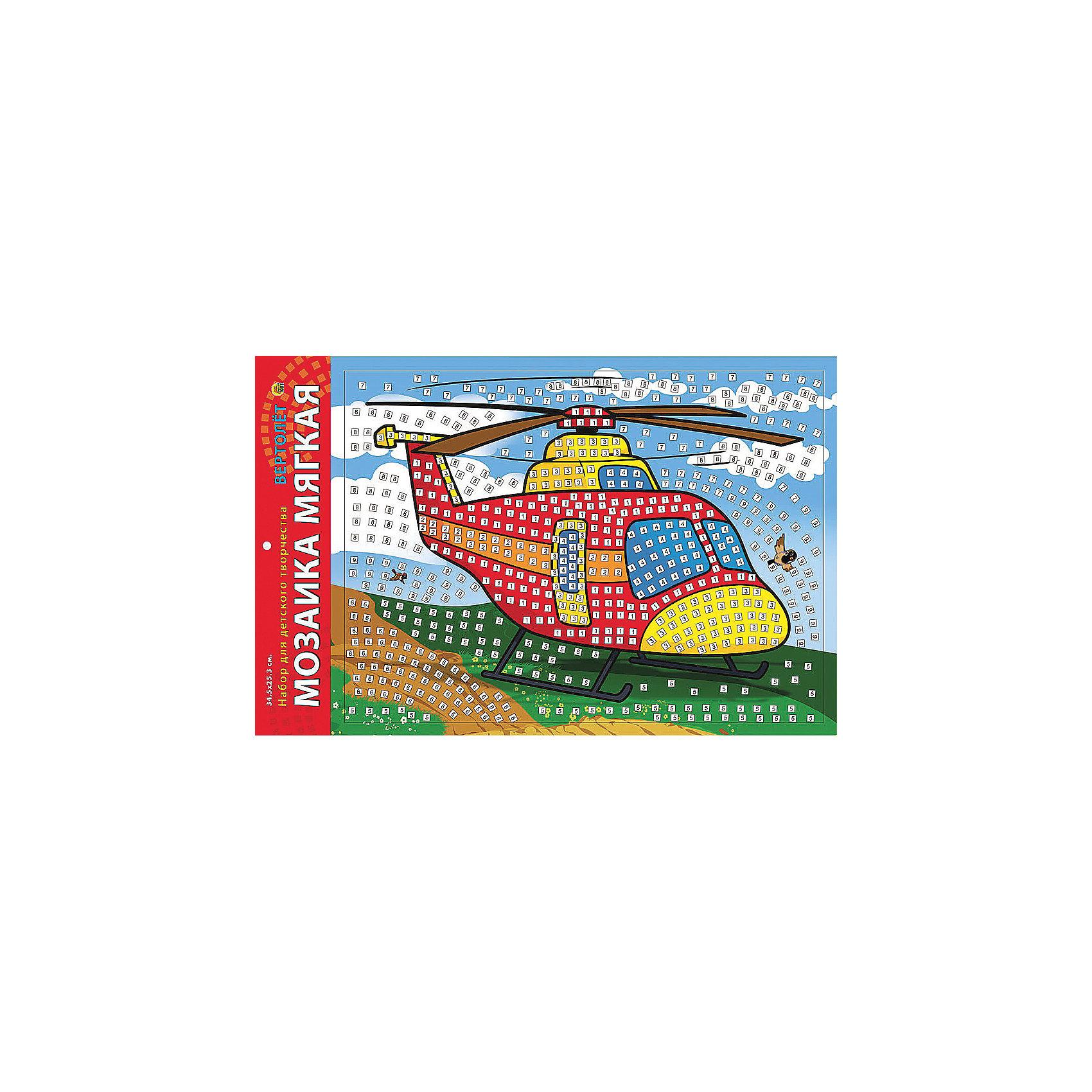 Издательство Рыжий кот Мягкая мозаика Вертолет, формат А3 (34.5х25 см) издательство рыжий кот мягкая мозаика веселый самолет формат а5 21х15 см