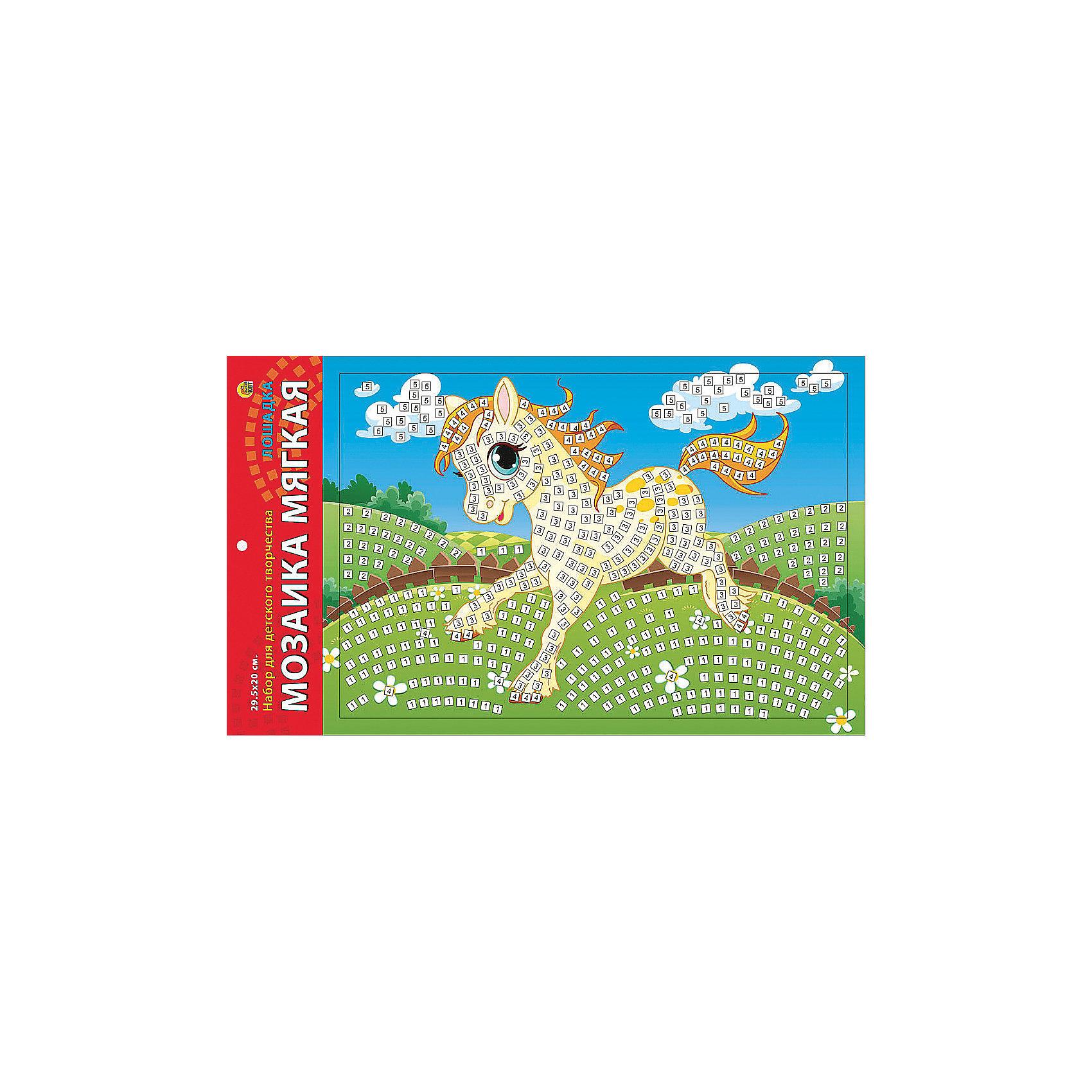 Издательство Рыжий кот Мягкая мозаика Лошадка формат А4 (29.5х20 см) издательство рыжий кот мягкая мозаика веселый самолет формат а5 21х15 см