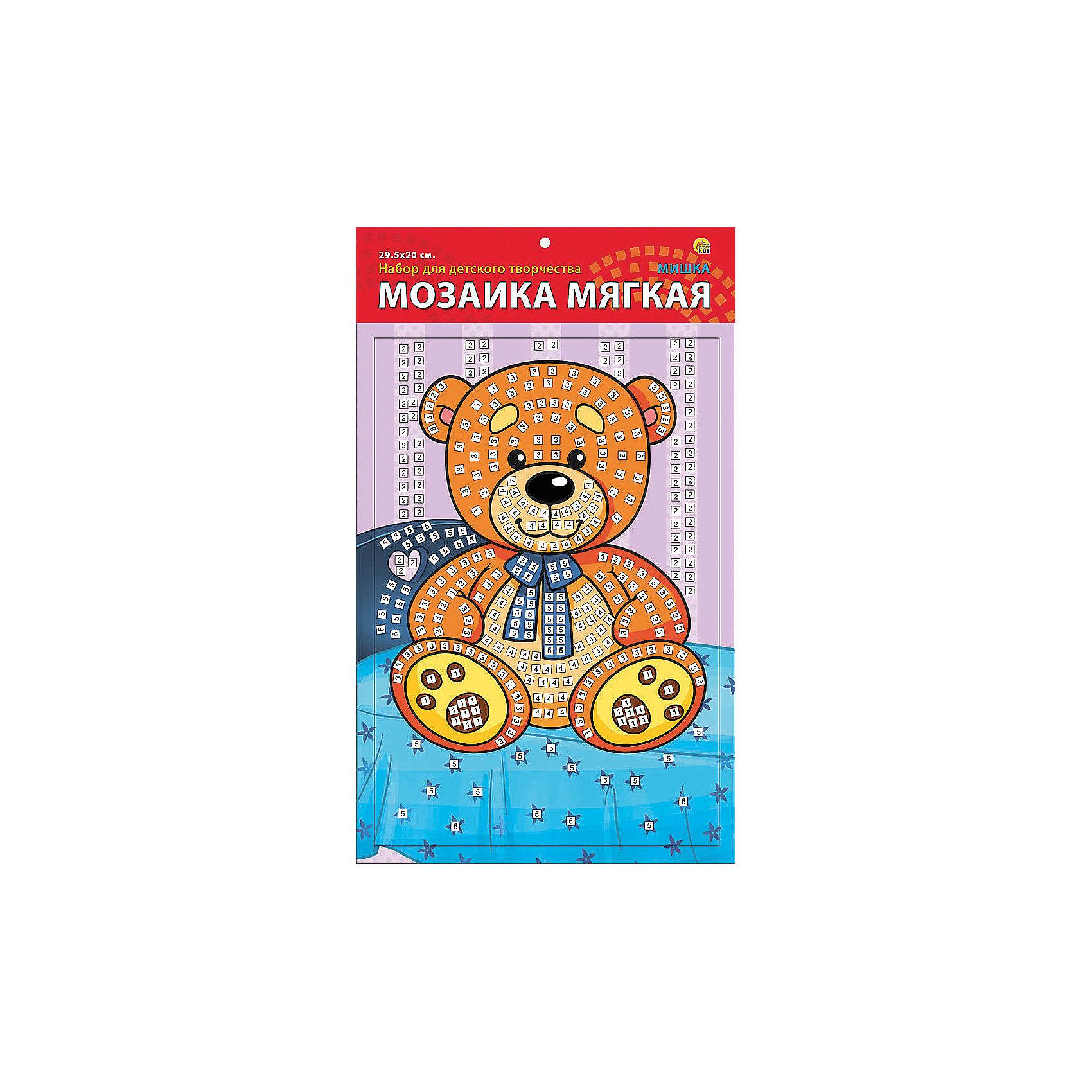 Издательство Рыжий кот Мягкая мозаика Мишка формат А4 (29.5х20 см) издательство рыжий кот мягкая мозаика обезьянка формат а5 21х15 см