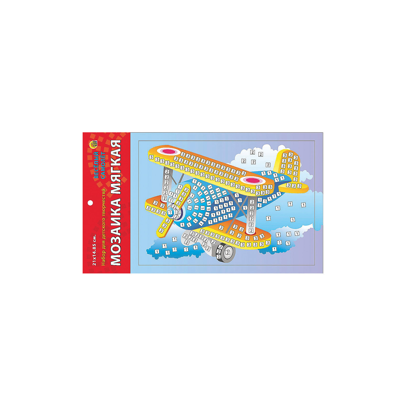 Издательство Рыжий кот Мягкая мозаика Веселый самолет формат А5 (21х15 см) издательство рыжий кот мягкая мозаика обезьянка формат а5 21х15 см