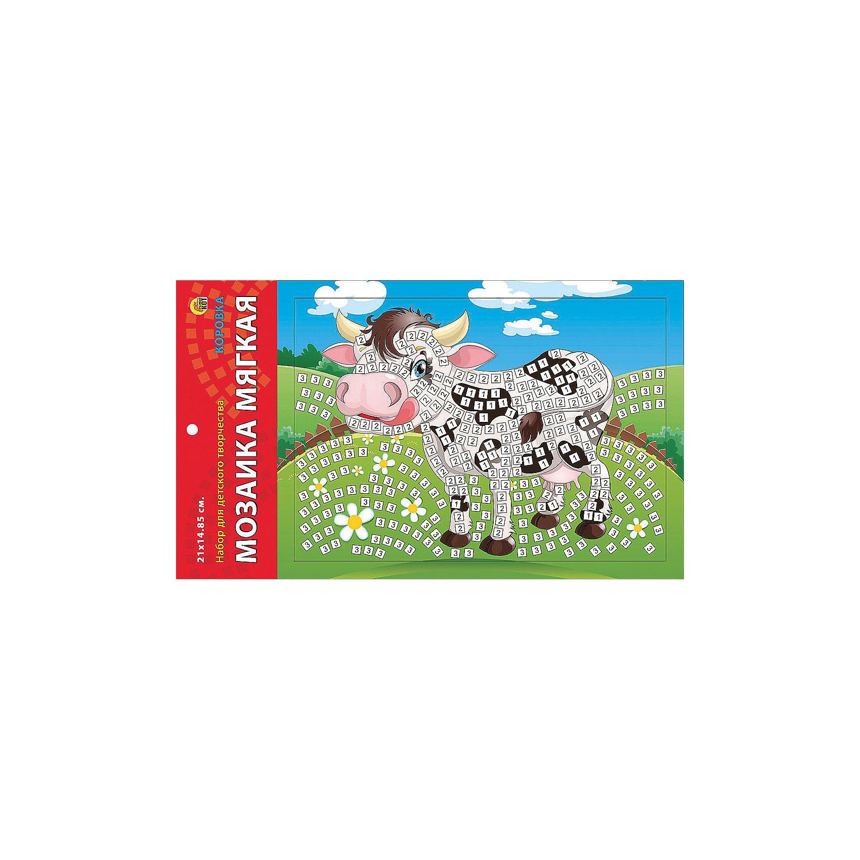 Издательство Рыжий кот Мягкая мозаика Коровка формат А5 (21х15 см) издательство рыжий кот мягкая мозаика обезьянка формат а5 21х15 см