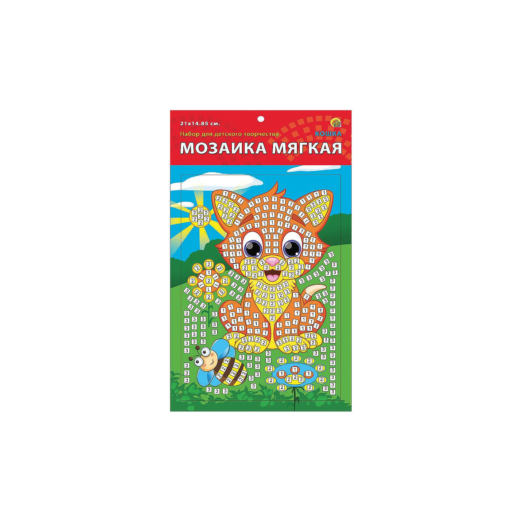 Издательство Рыжий кот Мягкая мозаика Кошка формат А5 (21х15 см) издательство рыжий кот мягкая мозаика обезьянка формат а5 21х15 см