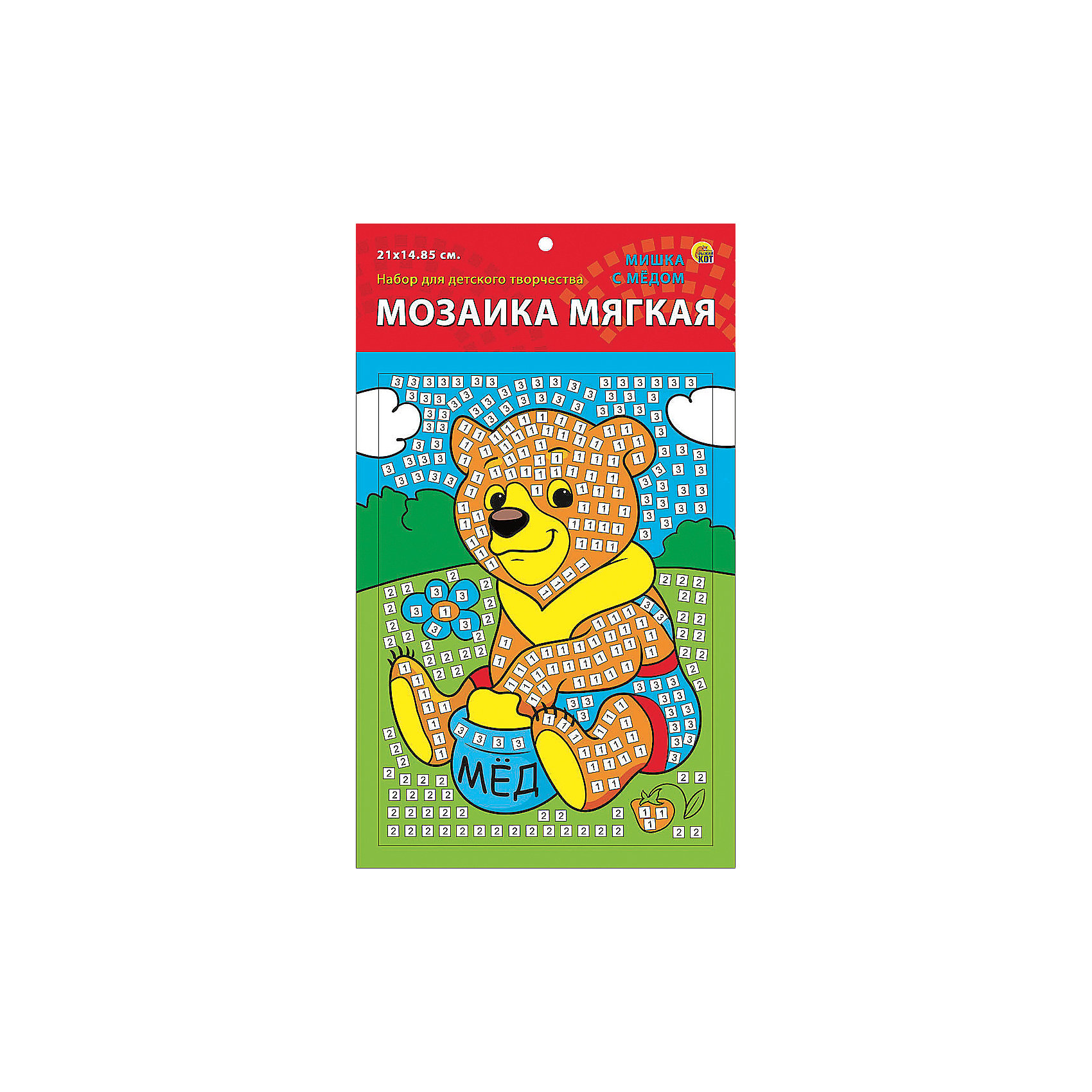 Издательство Рыжий кот Мягкая мозаика Мишка с медом формат А5 (21х15 см) издательство рыжий кот мягкая мозаика обезьянка формат а5 21х15 см