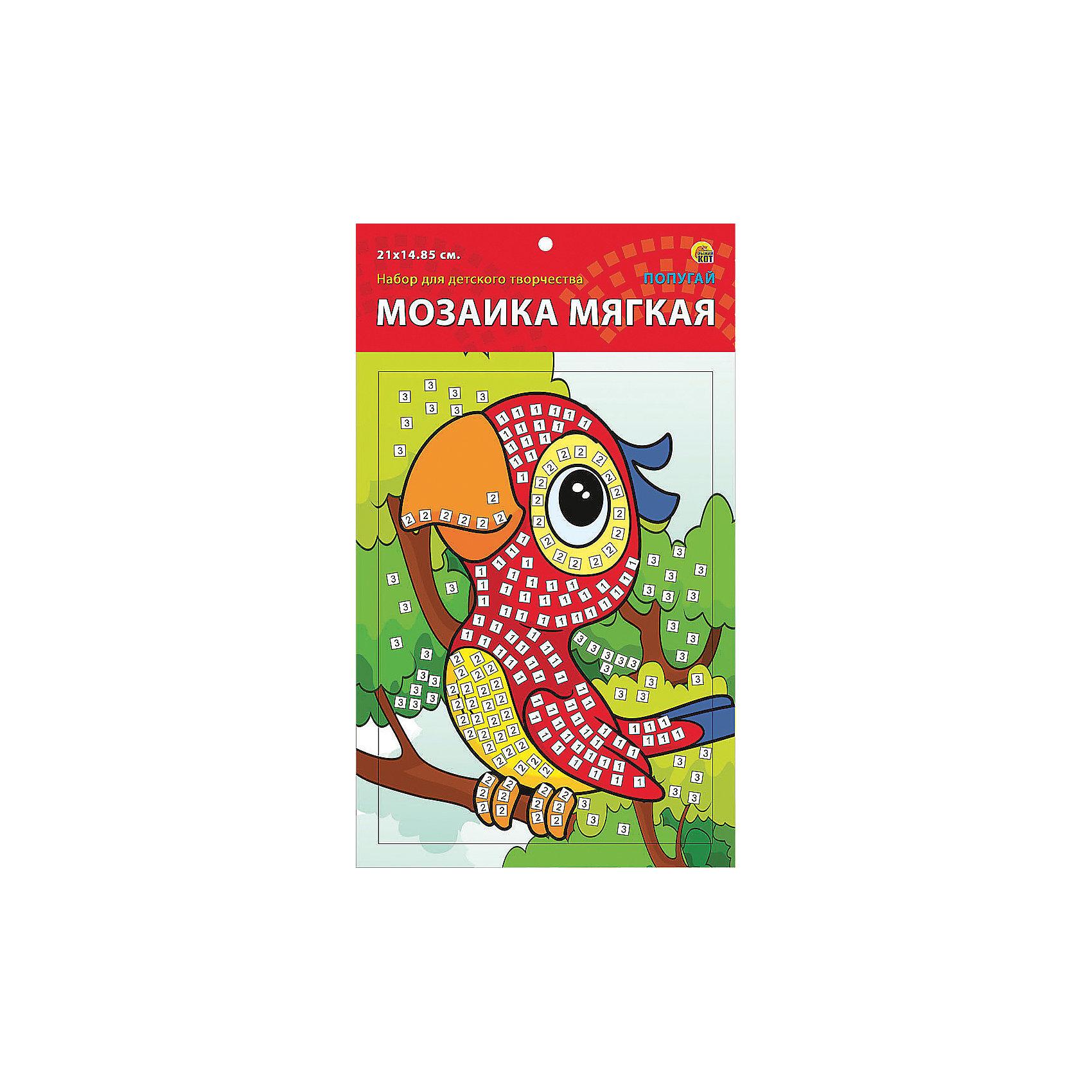 Издательство Рыжий кот Мягкая мозаика Попугай формат А5 (21х15 см) издательство рыжий кот мягкая мозаика обезьянка формат а5 21х15 см