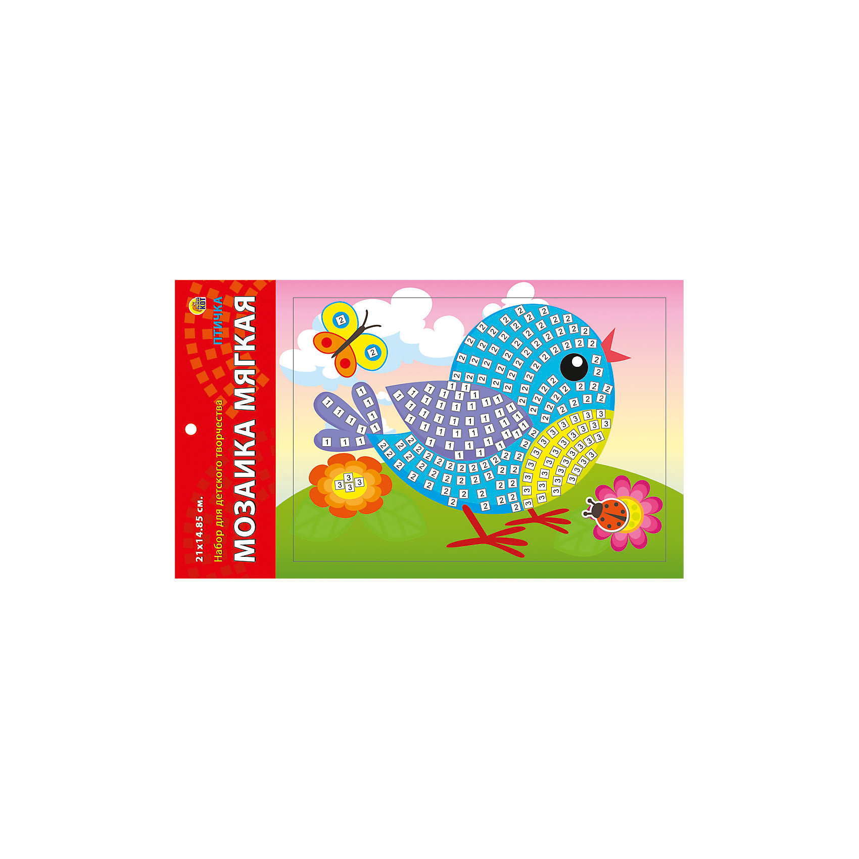 Издательство Рыжий кот Мягкая мозаика Птичка формат А5 (21х15 см) издательство рыжий кот мягкая мозаика обезьянка формат а5 21х15 см
