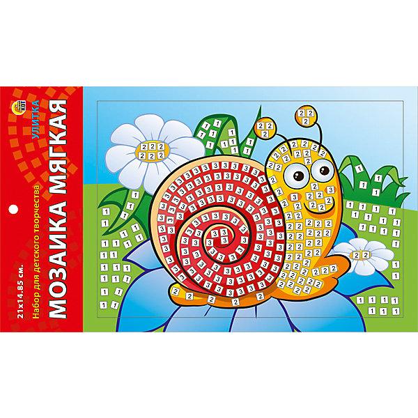 Мягкая мозаика Улитка формат А5 (21х15 см)Мозаика детская<br>Замечательный набор для детского творчества серии Мягкая мозаика станет прекрасным подарком для Вашего ребёнка, ведь он развивает творческие способности, мелкую моторику рук, цветовосприятие, внимание и художественный вкус! Малышу просто необходимо приклеить к пронумерованным областям на картинке детали соответствующих цветов. Набор привлекает ярким красивым дизайном и выполнен из безопасных материалов. Предназначено для детей в возрасте от 3-х лет.<br><br>Ширина мм: 225<br>Глубина мм: 30<br>Высота мм: 180<br>Вес г: 450<br>Возраст от месяцев: 0<br>Возраст до месяцев: 108<br>Пол: Унисекс<br>Возраст: Детский<br>SKU: 5096871