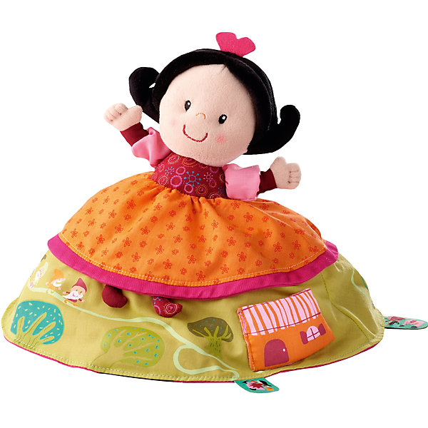 Двусторонняя игрушка Белоснежка, LilliputiensМягкие игрушки из мультфильмов<br>Характеристики товара:<br><br>- цвет: разноцветный;<br>- материал: текстиль; <br>- габариты упаковки: 20х19х20 см;<br>- вес: 300 г;<br>- возраст: 9 месяцев +.<br><br>Желание иметь множество разнообразных игрушек приводит к беспорядку в детской и быстрой утрате интереса к модели. Выход есть: игрушки 2 в 1. Данная кукла представляет собой принцессу с одной стороны и злую мачеху с другой. Чтобы поменять игрушку, достаточно вывернуть ее наизнанку! Разная фактура ткани развивает мелкую моторику малыша. Материалы, использованные при изготовлении изделия, абсолютно безопасны и полностью отвечают международным требованиям по качеству детских товаров.<br><br>Модель Двусторонняя игрушка Белоснежка от бркнда Liliputiens можно купить в нашем интернет-магазине.<br><br>Ширина мм: 20<br>Глубина мм: 19<br>Высота мм: 20<br>Вес г: 300<br>Возраст от месяцев: 9<br>Возраст до месяцев: 2147483647<br>Пол: Женский<br>Возраст: Детский<br>SKU: 5097372