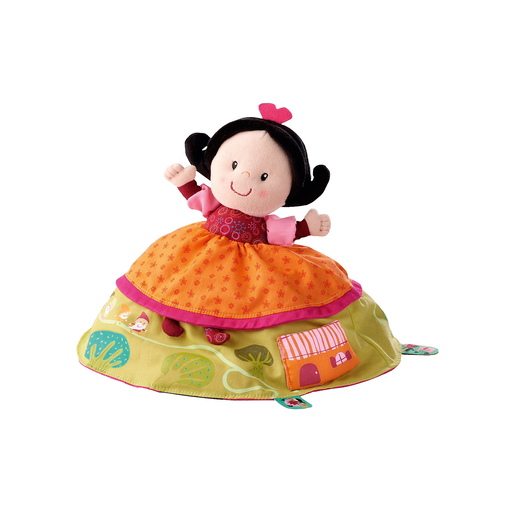 Двусторонняя игрушка Белоснежка, LilliputiensЛюбимые герои<br>Характеристики товара:<br><br>- цвет: разноцветный;<br>- материал: текстиль; <br>- габариты упаковки: 20х19х20 см;<br>- вес: 300 г;<br>- возраст: 9 месяцев +.<br><br>Желание иметь множество разнообразных игрушек приводит к беспорядку в детской и быстрой утрате интереса к модели. Выход есть: игрушки 2 в 1. Данная кукла представляет собой принцессу с одной стороны и злую мачеху с другой. Чтобы поменять игрушку, достаточно вывернуть ее наизнанку! Разная фактура ткани развивает мелкую моторику малыша. Материалы, использованные при изготовлении изделия, абсолютно безопасны и полностью отвечают международным требованиям по качеству детских товаров.<br><br>Модель Двусторонняя игрушка Белоснежка от бркнда Liliputiens можно купить в нашем интернет-магазине.<br><br>Ширина мм: 20<br>Глубина мм: 19<br>Высота мм: 20<br>Вес г: 300<br>Возраст от месяцев: 9<br>Возраст до месяцев: 2147483647<br>Пол: Женский<br>Возраст: Детский<br>SKU: 5097372