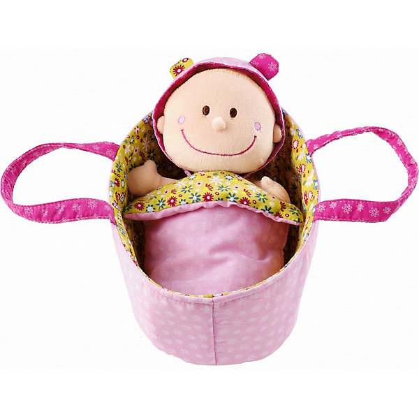 Мягкая куколка в переноске, LilliputiensКуклы<br>Характеристики товара:<br><br>- цвет: разноцветный;<br>- материал: текстиль, полиэстер, хлопок;<br>- габариты упаковки: 20x12x10 см;<br>- вес: 190 г;<br>- комплектация: кукла, аксессуары.<br><br>Дочки–матери – любимая игра всех малышек. Текстильные куклы – приятное и веселое развлечение. Куколка в переноске – сочетание традиционного пупса и модной тряпичной игрушки. Подходит как для одиночной игры, так и для игры в кругу друзей. Прививает малышке чувство ответственности и развивает социальные навыки. Подгузник и пижама легко снимаются и надеваются, поэтому забота о малышке будет доставлять ребенку огромное удовольствие! Материалы, использованные при изготовлении изделия, абсолютно безопасны и полностью отвечают международным требованиям по качеству детских товаров.<br><br>Игрушку Мягкая куколка в переноске от бренда Liliputien можно купить в нашем интернет-магазине.<br><br>Ширина мм: 20<br>Глубина мм: 12<br>Высота мм: 10<br>Вес г: 190<br>Возраст от месяцев: 9<br>Возраст до месяцев: 2147483647<br>Пол: Женский<br>Возраст: Детский<br>SKU: 5097373