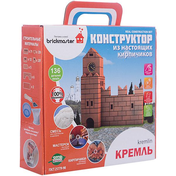 Конструктор Кремль, 136 деталей, BRICKMASTERКонструкторы из кирпичиков<br>Характеристики товара:<br><br>- цвет: красный;<br>- материал: керамика;<br>- деталей: 136;<br>- комплектация: маленькие кирпичи, строительная смесь, мастерок, инструкция.<br><br>Конструкторы могут не только развлекать ребенка, но и помогать его всестороннему развитию. Этот набор предназначен для формирования разных навыков, он помогает развить тактильное восприятие, мелкую моторику, воображение, внимание и логику.<br>Изделие представляет собой набор: кирпичики из обожженной глины, которые выглядят как настоящие, и безопасная строительная смесь, сделанная из кукурузного крахмала и песка. Построить из этого красивое сооружение поможет мастерок и инструкция, которые также есть в наборе. Смесь потом можно легко смыть - достаточно замочить конструкцию в воде. Изделие произведено из качественных материалов, безопасных для ребенка. Набор станет отличным подарком детям!<br><br>Конструктор Кремль, 136 деталей, от бренда BRICKMASTER можно купить в нашем интернет-магазине.<br><br>Ширина мм: 280<br>Глубина мм: 280<br>Высота мм: 80<br>Вес г: 2460<br>Возраст от месяцев: 36<br>Возраст до месяцев: 2147483647<br>Пол: Унисекс<br>Возраст: Детский<br>SKU: 5097519