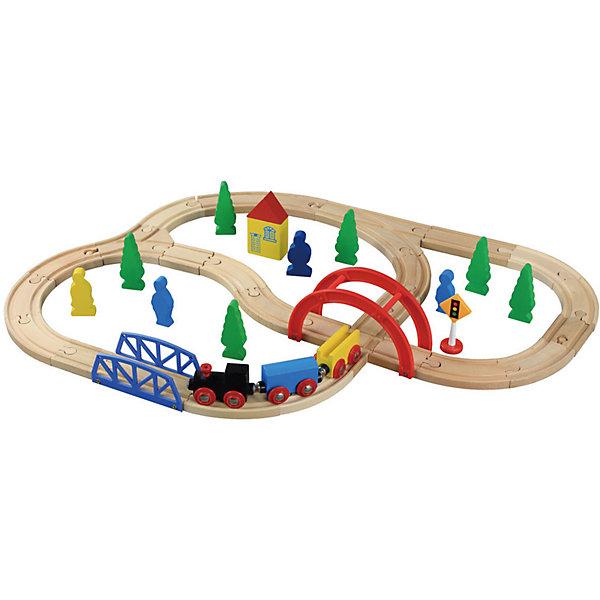 Конструктор Железная дорога, 40 деталей, BalbiДеревянные конструкторы<br>Характеристики товара:<br><br>- цвет: разноцветный;<br>- материал: дерево, пластик;<br>- деталей: 40;<br>- размер дороги в собранном виде: 60х47 см;<br>- комплектация: поезд, железная дорога, декорации.<br><br>Конструкторы могут не только развлекать ребенка, но и помогать его всестороннему развитию. Этот набор предназначен для формирования разных навыков, он помогает развить тактильное восприятие, мелкую моторику, воображение, внимание и логику.<br>Изделие представляет собой набор: поезд с вагонами на магнитах, железная дорога, декорации. Построить из этого целый город ребенок сможет без труда. С такими декорациями можно придумать множество игр! Изделие произведено из качественных материалов, безопасных для ребенка. Набор станет отличным подарком детям!<br><br>Конструктор Железная дорога, 40 деталей, от бренда Balbi можно купить в нашем интернет-магазине.<br><br>Ширина мм: 250<br>Глубина мм: 60<br>Высота мм: 290<br>Вес г: 1120<br>Возраст от месяцев: 36<br>Возраст до месяцев: 2147483647<br>Пол: Унисекс<br>Возраст: Детский<br>SKU: 5097524