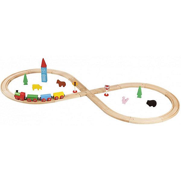 Конструктор Железная дорога, 32 деталей, BalbiДеревянные конструкторы<br>Характеристики товара:<br><br>- цвет: разноцветный;<br>- материал: дерево, пластик;<br>- деталей: 32;<br>- размер дороги в собранном виде: 100х44 см;<br>- комплектация: поезд, железная дорога, декорации.<br><br>Конструкторы могут не только развлекать ребенка, но и помогать его всестороннему развитию. Этот набор предназначен для формирования разных навыков, он помогает развить тактильное восприятие, мелкую моторику, воображение, внимание и логику.<br>Изделие представляет собой набор: поезд с вагонами на магнитах, железная дорога, декорации. Построить из этого целый город ребенок сможет без труда. С такими декорациями можно придумать множество игр! Изделие произведено из качественных материалов, безопасных для ребенка. Набор станет отличным подарком детям!<br><br>Конструктор Железная дорога, 32 детали, от бренда Balbi можно купить в нашем интернет-магазине.<br><br>Ширина мм: 230<br>Глубина мм: 90<br>Высота мм: 270<br>Вес г: 1294<br>Возраст от месяцев: 36<br>Возраст до месяцев: 2147483647<br>Пол: Унисекс<br>Возраст: Детский<br>SKU: 5097526