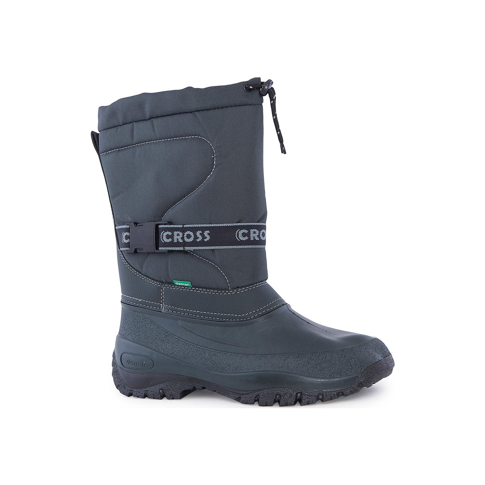 Сапоги Cross для мальчиков demarСапоги для мальчиков demar<br>Зимняя модель. Сапожки имеют утеплитель внутренней части изготовлен на основе натуральной овечьей шерсти, помогает выдерживать морозы до - 20 ° C. Зимние сапожки Demar очень легкие, вес ОКОЛО 500 гр.<br>Верх обуви - не продуваемый текстильный материал, имеющий высокие износостойкие и водоотталкивающие свойства. Термокаучук, используется при изготовлении подошвы способствует сохранению эластичности даже при низких температурах и позволяет избежать скольжения. Сапожки легко одеваются. Выполнены из супер легких материалов, вес их на столько легкий, что ребенок даже не заметит, что он уже обут)))<br>Утепленные натуральной овечьей шерстью - гарантия теплых ножек!<br>Сделаны в Польше!<br>Рекомендуем для зимних прогулок и игр.<br>Сертифицированы, гарантия качества. <br>Состав:<br>Материал верха: текстильный материал. Материал подкладки: натуральная шерсть.  Материал подошвы: ТЭП<br><br>Ширина мм: 257<br>Глубина мм: 180<br>Высота мм: 130<br>Вес г: 420<br>Цвет: зеленый<br>Возраст от месяцев: 168<br>Возраст до месяцев: 192<br>Пол: Мужской<br>Возраст: Детский<br>Размер: 39/40,41/42,37/38,36<br>SKU: 5098132