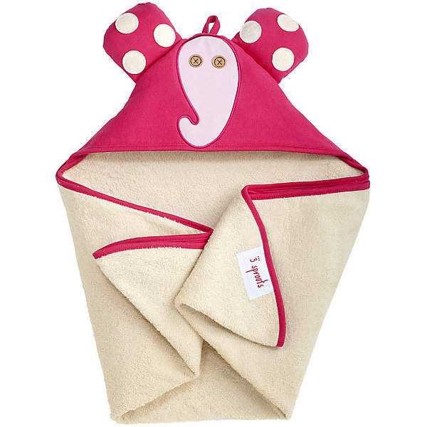 Полотенце с капюшоном Слоник (Pink Elephant), 3 SproutsПляжные полотенца<br>Милое полотенце для маленькой крохи. Махровое изнутри, а внешний слой изготовлен из 100% хлопка. <br><br>Дополнительная информация:<br><br>- Размер полотенца: 76х76 см.<br>- Материал: 100% хлопок снаружи, махровая ткань изнутри.<br>- Уход: деликатная стирка в холодной воде.<br><br>Купить полотенце с капюшоном Слоник (Pink Elephant), можно в нашем магазине.<br>Ширина мм: 260; Глубина мм: 20; Высота мм: 330; Вес г: 402; Возраст от месяцев: 0; Возраст до месяцев: 18; Пол: Унисекс; Возраст: Детский; SKU: 5098198;