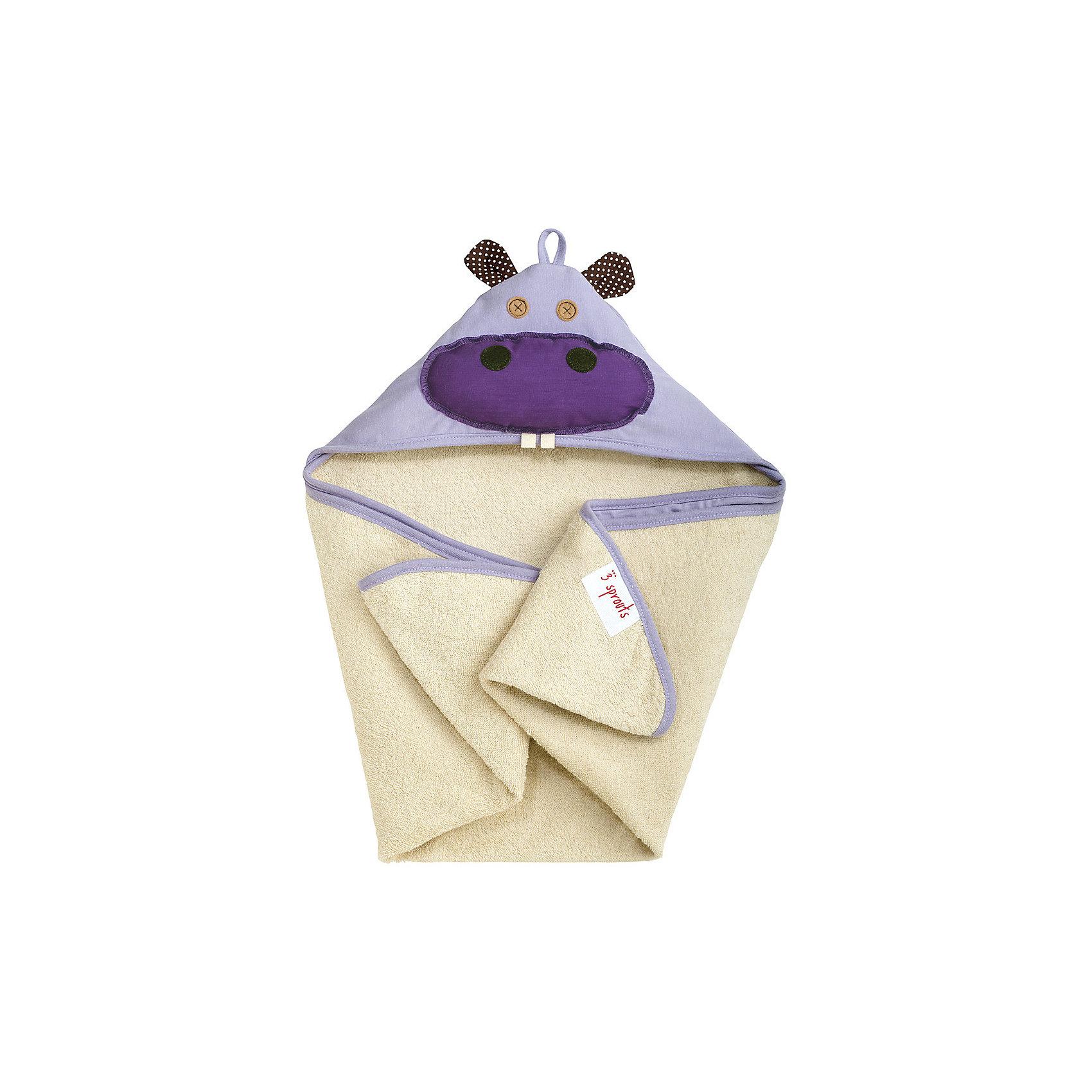 Полотенце с капюшоном Бегемотик (Purple Hippo), 3 SproutsПолотенца, мочалки, халаты<br>Милое полотенце для маленькой крохи. Махровое изнутри, а внешний слой изготовлен из 100% хлопка. <br><br>Дополнительная информация:<br><br>- Размер полотенца: 76х76 см.<br>- Материал: 100% хлопок снаружи, махровая ткань изнутри.<br>- Уход: деликатная стирка в холодной воде.<br><br>Купить полотенце с капюшоном Бегемотик (Purple Hippo), можно в нашем магазине.<br><br>Ширина мм: 260<br>Глубина мм: 20<br>Высота мм: 330<br>Вес г: 402<br>Возраст от месяцев: 0<br>Возраст до месяцев: 18<br>Пол: Унисекс<br>Возраст: Детский<br>SKU: 5098199