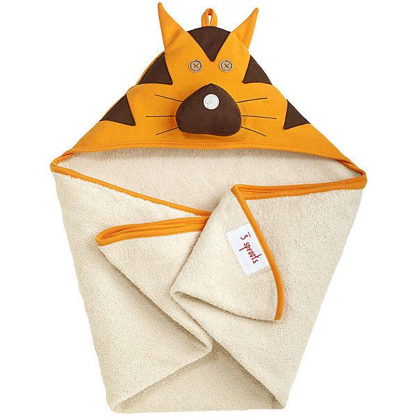 Полотенце с капюшоном Тигр (Orange Tiger), 3 SproutsПляжные полотенца<br>Милое полотенце для маленькой крохи. Махровое изнутри, а внешний слой изготовлен из 100% хлопка. <br><br>Дополнительная информация:<br><br>- Размер полотенца: 76х76 см.<br>- Материал: 100% хлопок снаружи, махровая ткань изнутри.<br>- Уход: деликатная стирка в холодной воде.<br><br>Купить полотенце с капюшоном Тигр (Orange Tiger), можно в нашем магазине.<br><br>Ширина мм: 260<br>Глубина мм: 20<br>Высота мм: 330<br>Вес г: 402<br>Возраст от месяцев: 0<br>Возраст до месяцев: 18<br>Пол: Унисекс<br>Возраст: Детский<br>SKU: 5098202