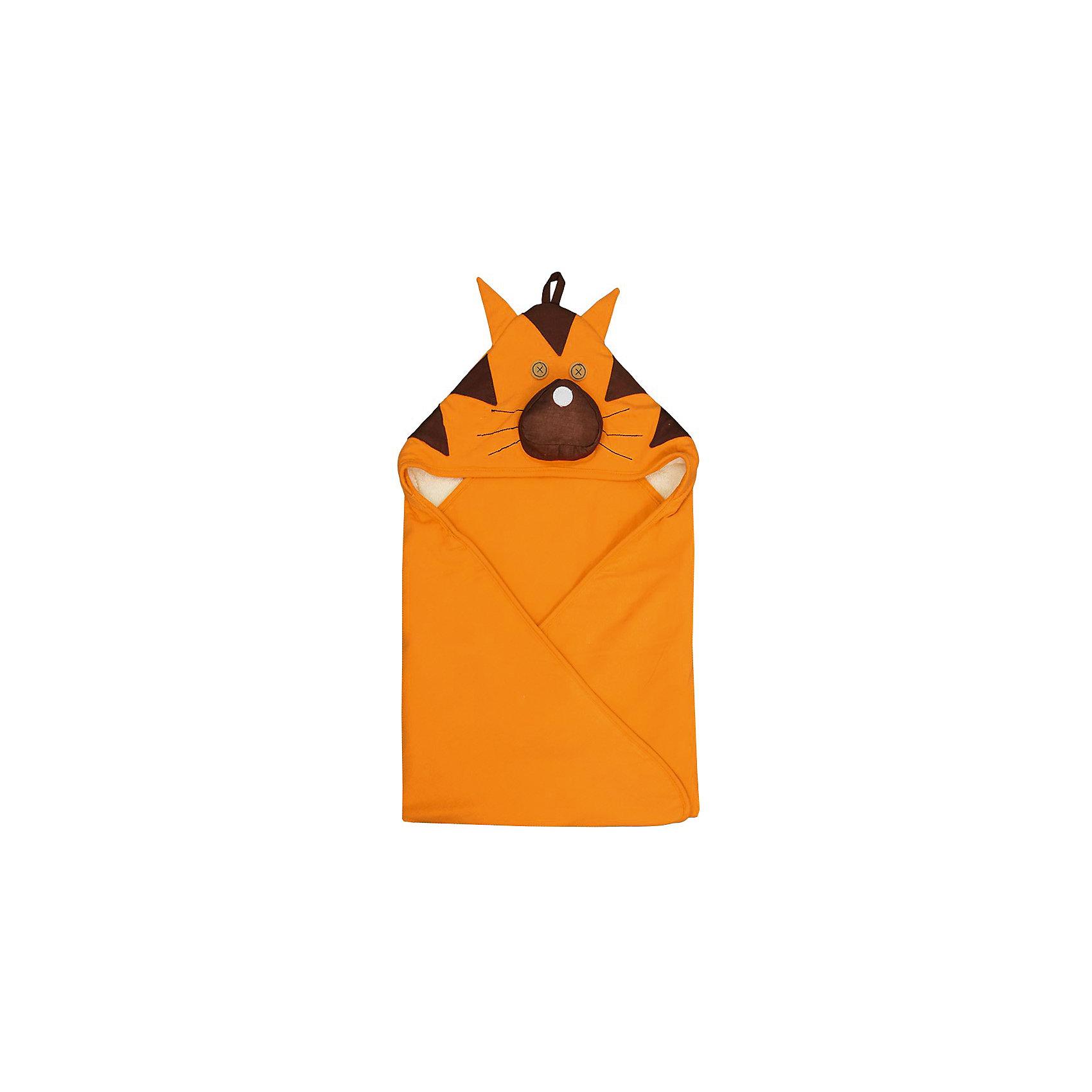 Полотенце с капюшоном Тигр (Orange Tiger), 3 Sprouts