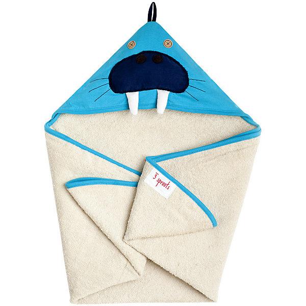 Полотенце с капюшоном Морж (Blue Walrus), 3 SproutsПляжные полотенца<br>Милое полотенце для маленькой крохи. Махровое изнутри, а внешний слой изготовлен из 100% хлопка. <br><br>Дополнительная информация:<br><br>- Размер полотенца: 76х76 см.<br>- Материал: 100% хлопок снаружи, махровая ткань изнутри.<br>- Уход: деликатная стирка в холодной воде.<br><br>Купить полотенце с капюшоном Морж (Blue Walrus), можно в нашем магазине.<br><br>Ширина мм: 260<br>Глубина мм: 20<br>Высота мм: 330<br>Вес г: 402<br>Возраст от месяцев: 0<br>Возраст до месяцев: 18<br>Пол: Унисекс<br>Возраст: Детский<br>SKU: 5098203