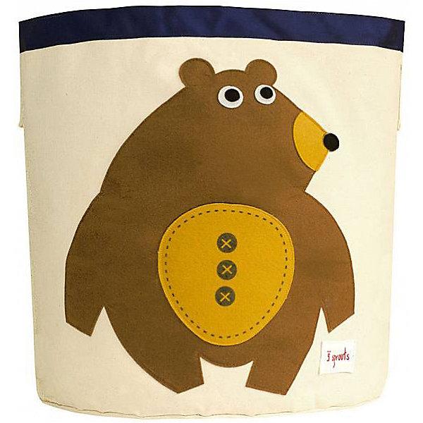Корзина для хранения Мишка (Toffee Bear), 3 SproutsЯщики для игрушек<br>Такие милые корзины помогут Вам навести порядок в детской. Размер корзины позволяет хранить в ней игрушки или белье.  <br><br>Дополнительная информация:<br><br>- Размер полотенца: 44.5х43 см.<br>- Материал: <br>100% хлопковый брезент.<br>100% полиэстровая фетровая аппликация.<br>100% полиэтиленовое покрытие (внутри).<br><br>Купить корзину для хранения Мишка (Toffee Bear), можно в нашем магазине.<br>Ширина мм: 250; Глубина мм: 20; Высота мм: 450; Вес г: 526; Возраст от месяцев: 6; Возраст до месяцев: 84; Пол: Унисекс; Возраст: Детский; SKU: 5098204;