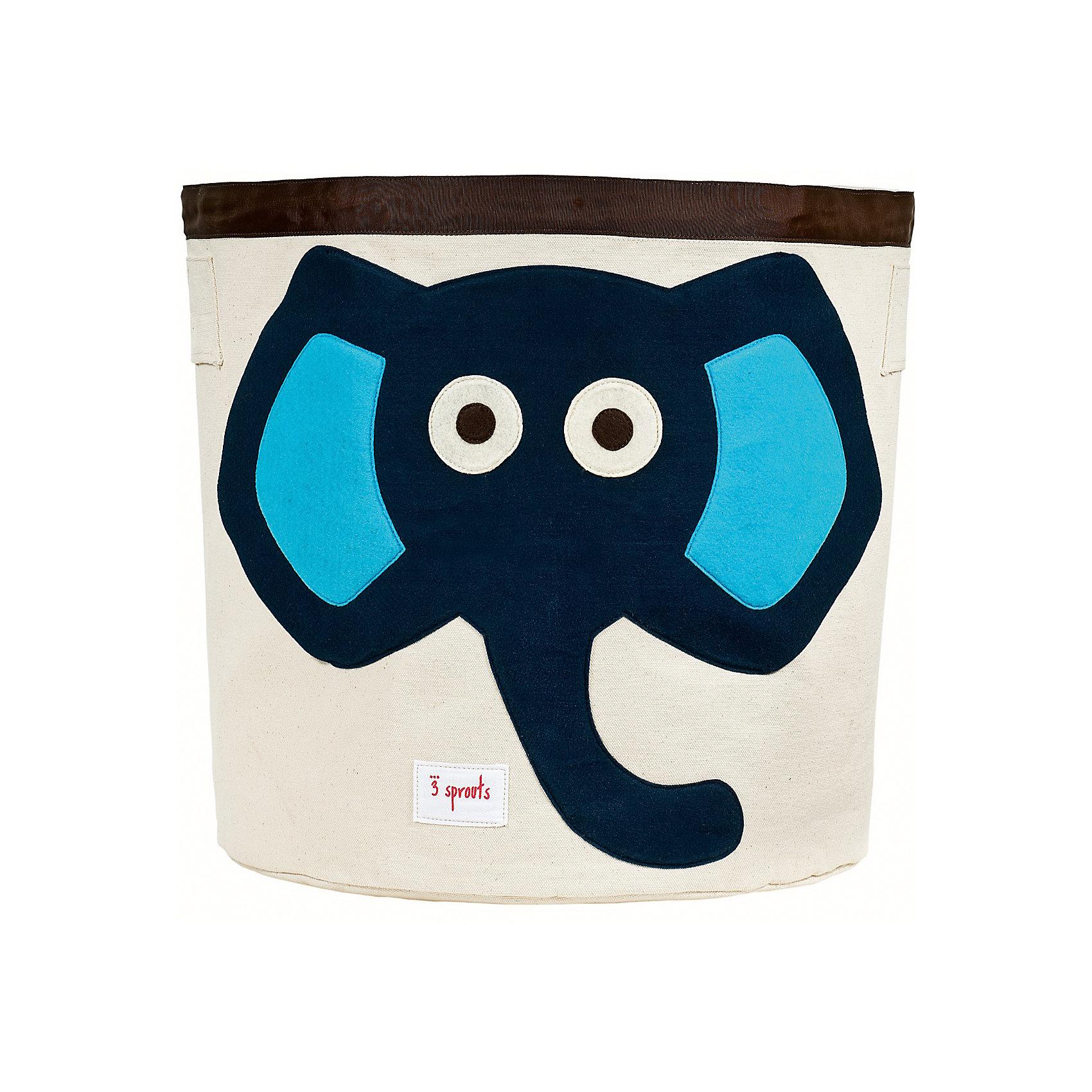 Корзина для хранения Слонёнок (Blue Elephant), 3 Sprouts, синийПорядок в детской<br>Такие милые корзины помогут Вам навести порядок в детской. Размер корзины позволяет хранить в ней игрушки или белье.  <br><br>Дополнительная информация:<br><br>- Размер полотенца: 44.5х43 см.<br>- Материал: <br>100% хлопковый брезент.<br>100% полиэстровая фетровая аппликация.<br>100% полиэтиленовое покрытие (внутри).<br>- Цвет: синий.<br><br>Купить корзину для хранения Слоненок (Blue Elephant) в синем цвете, можно в нашем магазине.<br><br>Ширина мм: 250<br>Глубина мм: 20<br>Высота мм: 450<br>Вес г: 526<br>Возраст от месяцев: 6<br>Возраст до месяцев: 84<br>Пол: Унисекс<br>Возраст: Детский<br>SKU: 5098205