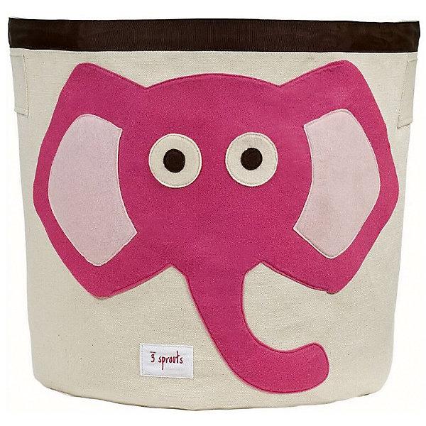 Корзина для хранения Слонёнок (Pink Elephant), 3 Sprouts, розовыйЯщики для игрушек<br>Такие милые корзины помогут Вам навести порядок в детской. Размер корзины позволяет хранить в ней игрушки или белье.  <br><br>Дополнительная информация:<br><br>- Размер полотенца: 44.5х43 см.<br>- Материал: <br>100% хлопковый брезент.<br>100% полиэстровая фетровая аппликация.<br>100% полиэтиленовое покрытие (внутри).<br>- Цвет: розовый.<br><br>Купить корзину для хранения Слоненок (Pink Elephant) в розовом цвете, можно в нашем магазине.<br><br>Ширина мм: 250<br>Глубина мм: 20<br>Высота мм: 450<br>Вес г: 526<br>Возраст от месяцев: 6<br>Возраст до месяцев: 84<br>Пол: Унисекс<br>Возраст: Детский<br>SKU: 5098206