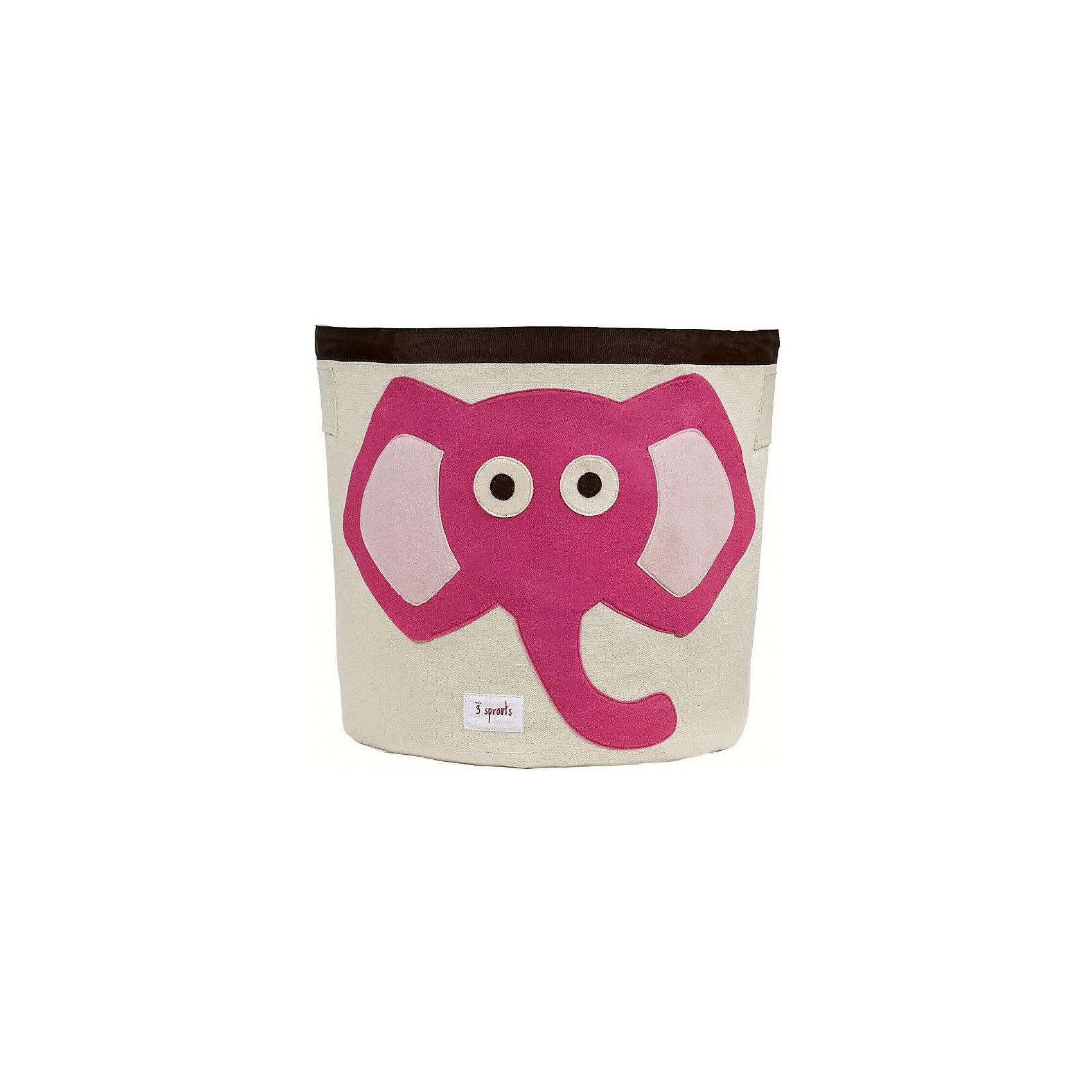 Корзина для хранения Слонёнок (Pink Elephant), 3 Sprouts, розовыйПорядок в детской<br>Такие милые корзины помогут Вам навести порядок в детской. Размер корзины позволяет хранить в ней игрушки или белье.  <br><br>Дополнительная информация:<br><br>- Размер полотенца: 44.5х43 см.<br>- Материал: <br>100% хлопковый брезент.<br>100% полиэстровая фетровая аппликация.<br>100% полиэтиленовое покрытие (внутри).<br>- Цвет: розовый.<br><br>Купить корзину для хранения Слоненок (Pink Elephant) в розовом цвете, можно в нашем магазине.<br><br>Ширина мм: 250<br>Глубина мм: 20<br>Высота мм: 450<br>Вес г: 526<br>Возраст от месяцев: 6<br>Возраст до месяцев: 84<br>Пол: Унисекс<br>Возраст: Детский<br>SKU: 5098206
