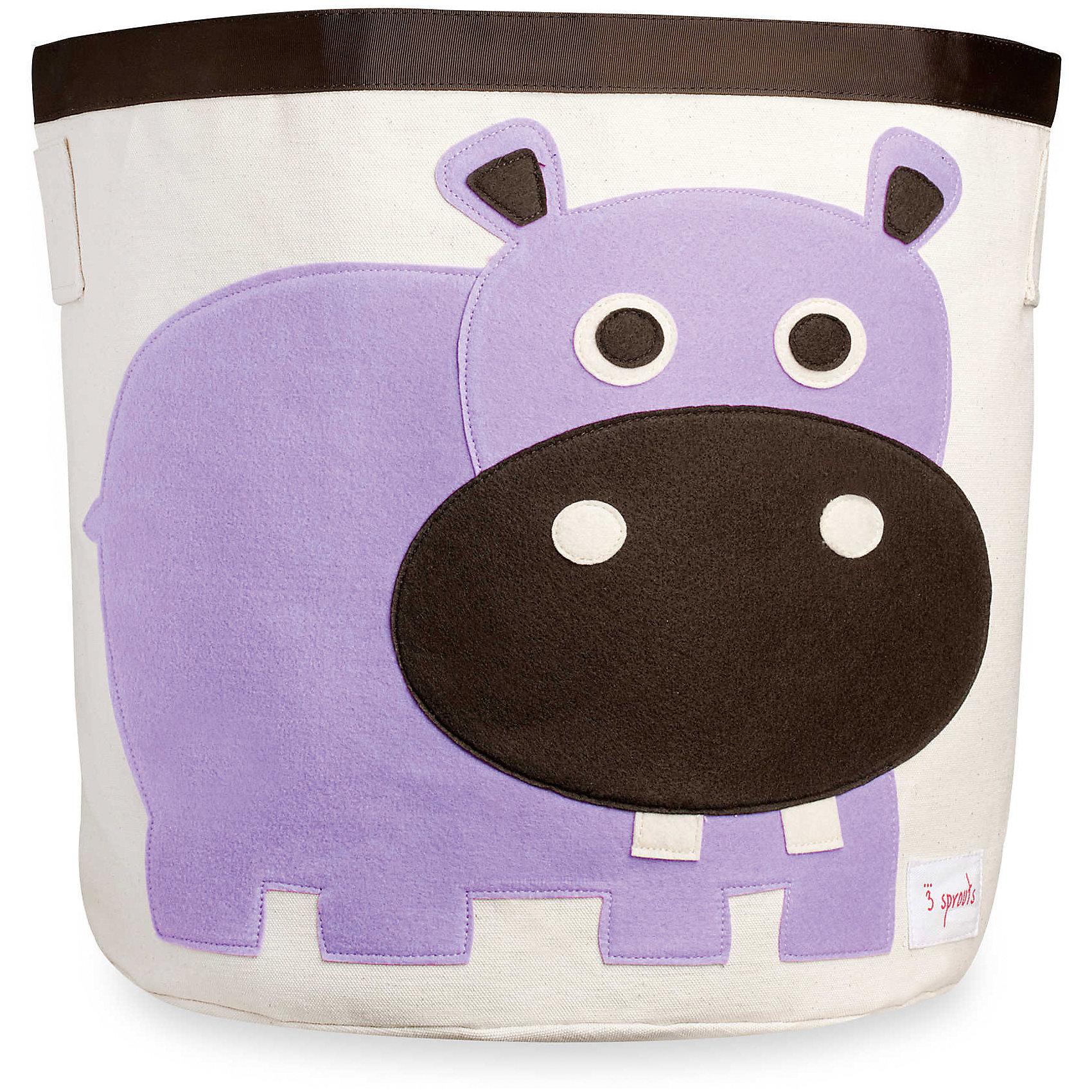 Корзина для хранения Бегемотик (Purple Hippo), 3 SproutsТакие милые корзины помогут Вам навести порядок в детской. Размер корзины позволяет хранить в ней игрушки или белье.  <br><br>Дополнительная информация:<br><br>- Размер полотенца: 44.5х43 см.<br>- Материал: <br>100% хлопковый брезент.<br>100% полиэстровая фетровая аппликация.<br>100% полиэтиленовое покрытие (внутри).<br><br>Купить корзину для хранения Бегемотик (Purple Hippo), можно в нашем магазине.<br><br>Ширина мм: 250<br>Глубина мм: 20<br>Высота мм: 450<br>Вес г: 526<br>Возраст от месяцев: 6<br>Возраст до месяцев: 84<br>Пол: Унисекс<br>Возраст: Детский<br>SKU: 5098207